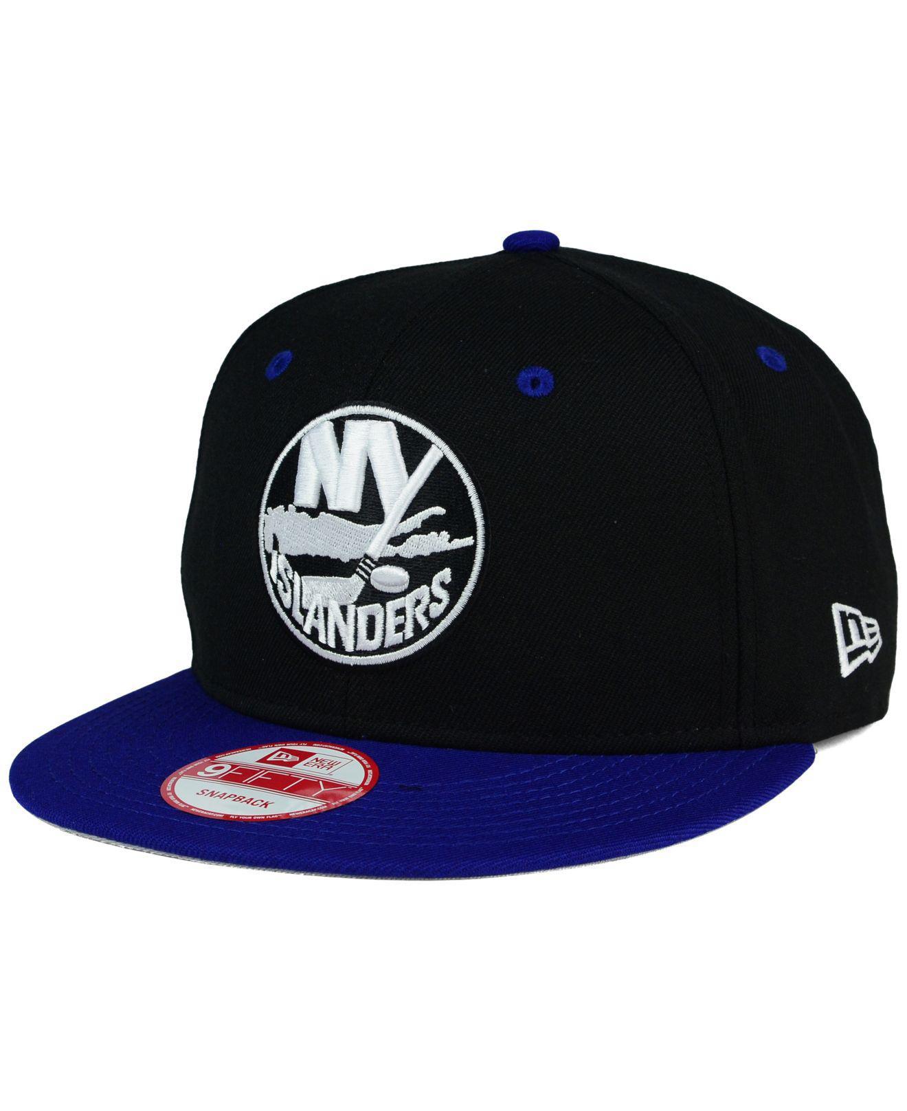 88cb305e4bd KTZ. Men s Blue New York Islanders Black White Team Color 9fifty Snapback  Cap