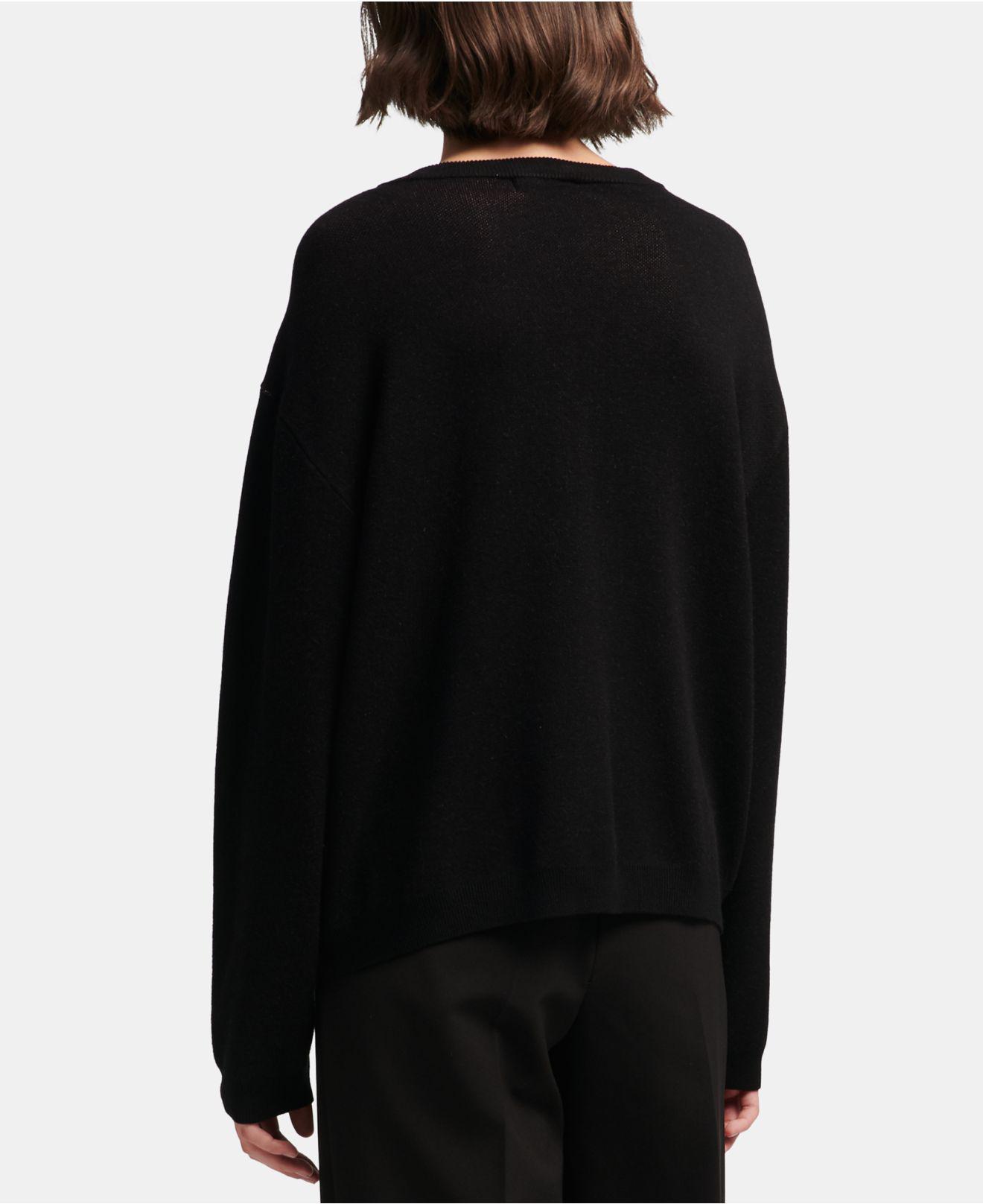 4f68b0f16e Lyst - Dkny Printed Crewneck Sweater