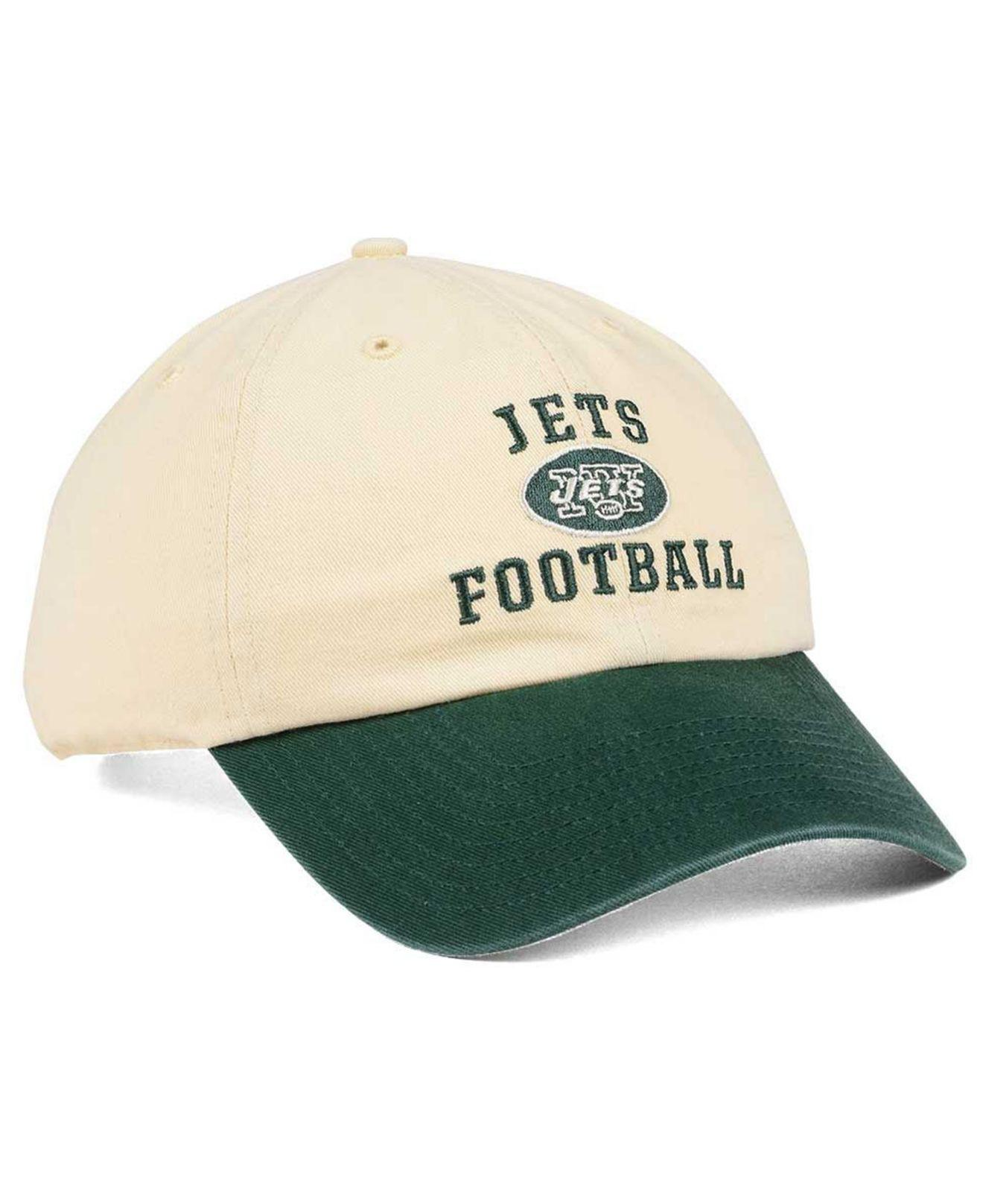 wholesale dealer ebef2 6ba6d ... best price lyst 47 brand new york jets steady two tone clean up cap in  green