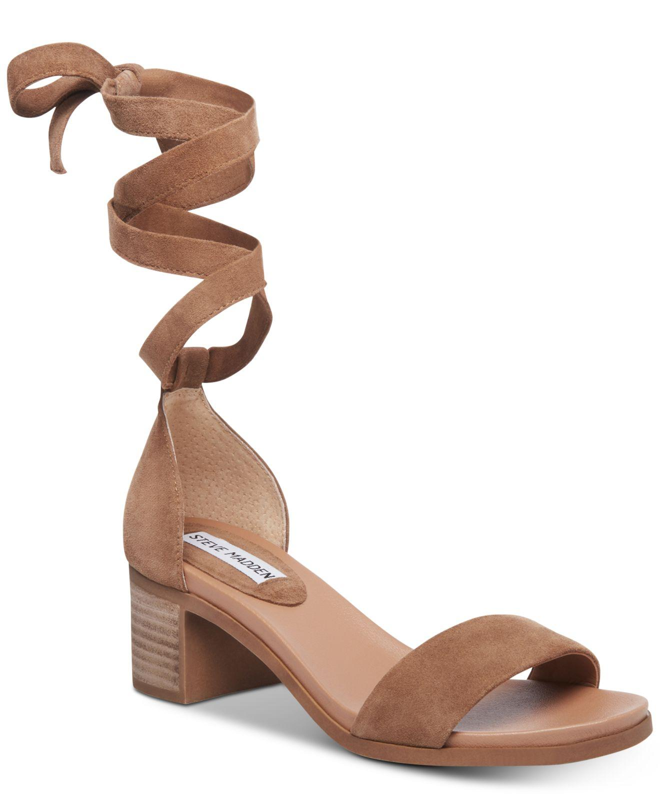 bf149a9e8532 Lyst - Steve Madden Adjust Tie-up Sandals in Brown