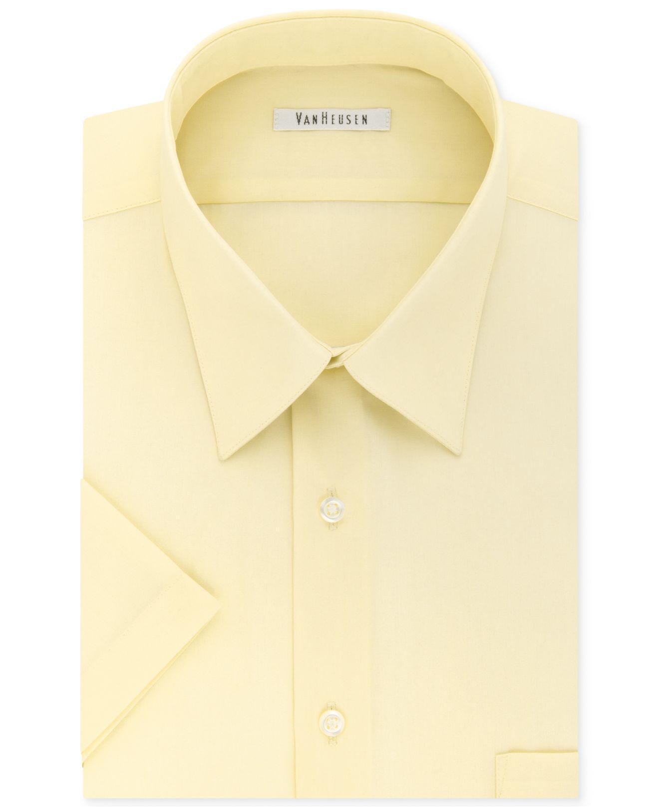 Women's Short Sleeve Van Heusen Aviator Shirt Blue