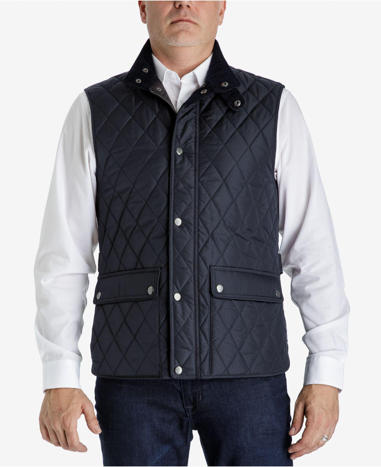 front quiltedvest cotton vest nature quilt view quilted baby navy