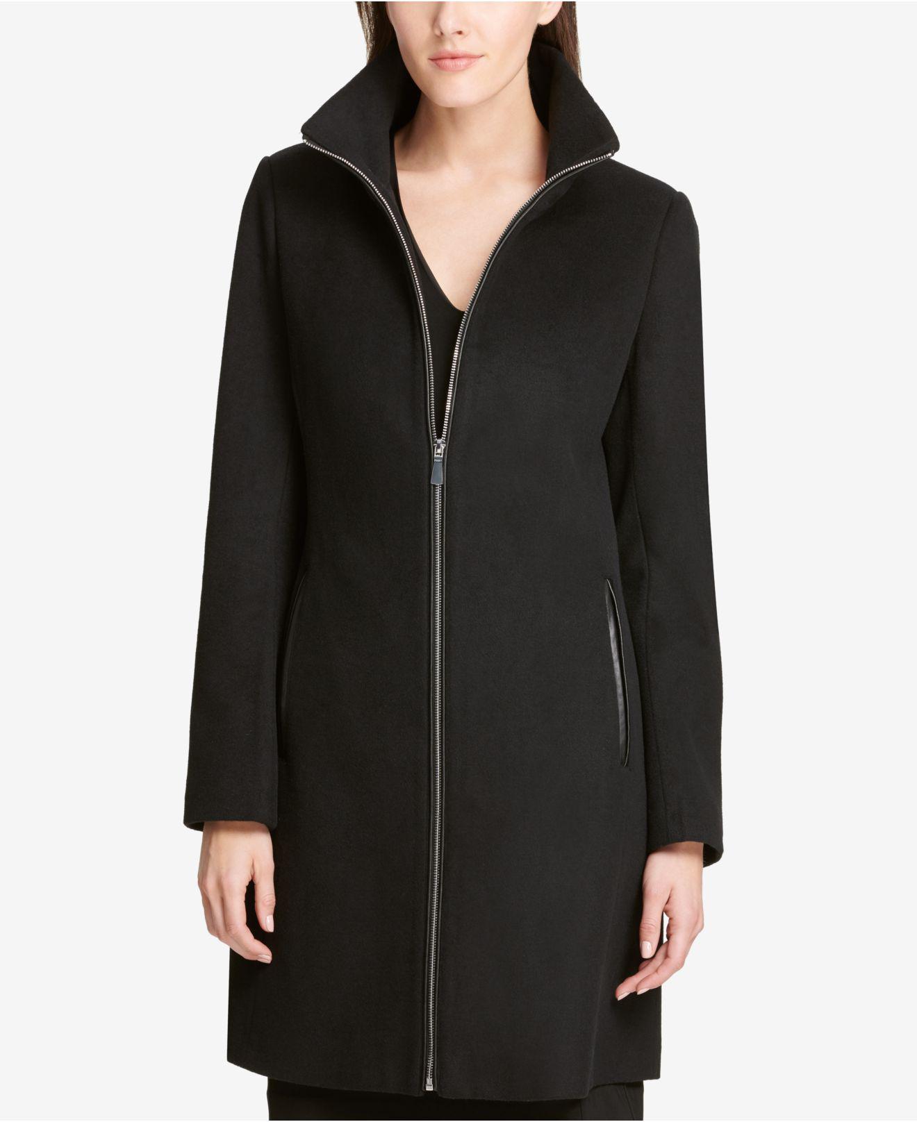 cc46c88c2f8a7 Lyst - DKNY Stand-collar Walker Coat