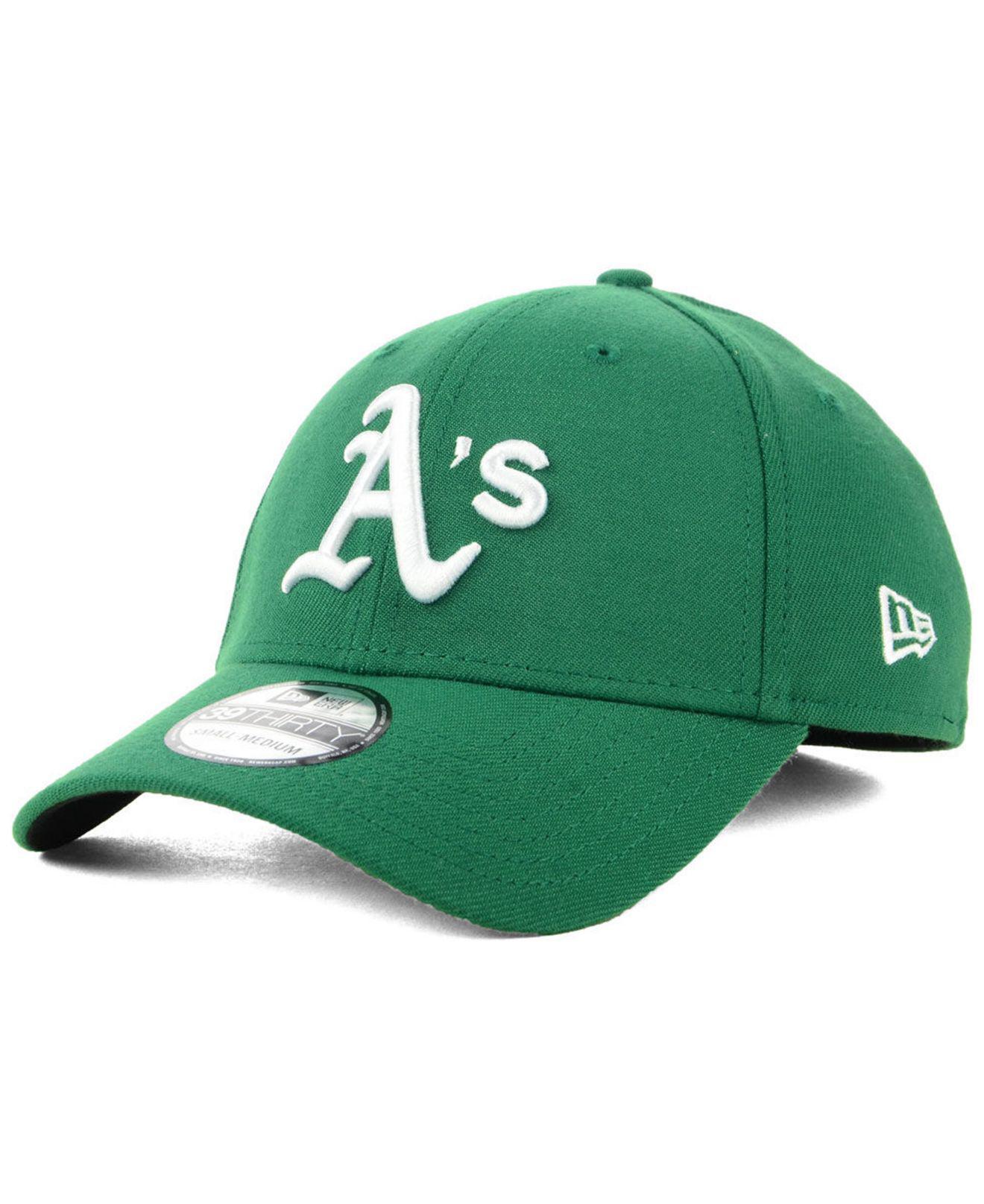 83457660fe3 KTZ Oakland Athletics Team Classic 39thirty Cap in Green for Men ...