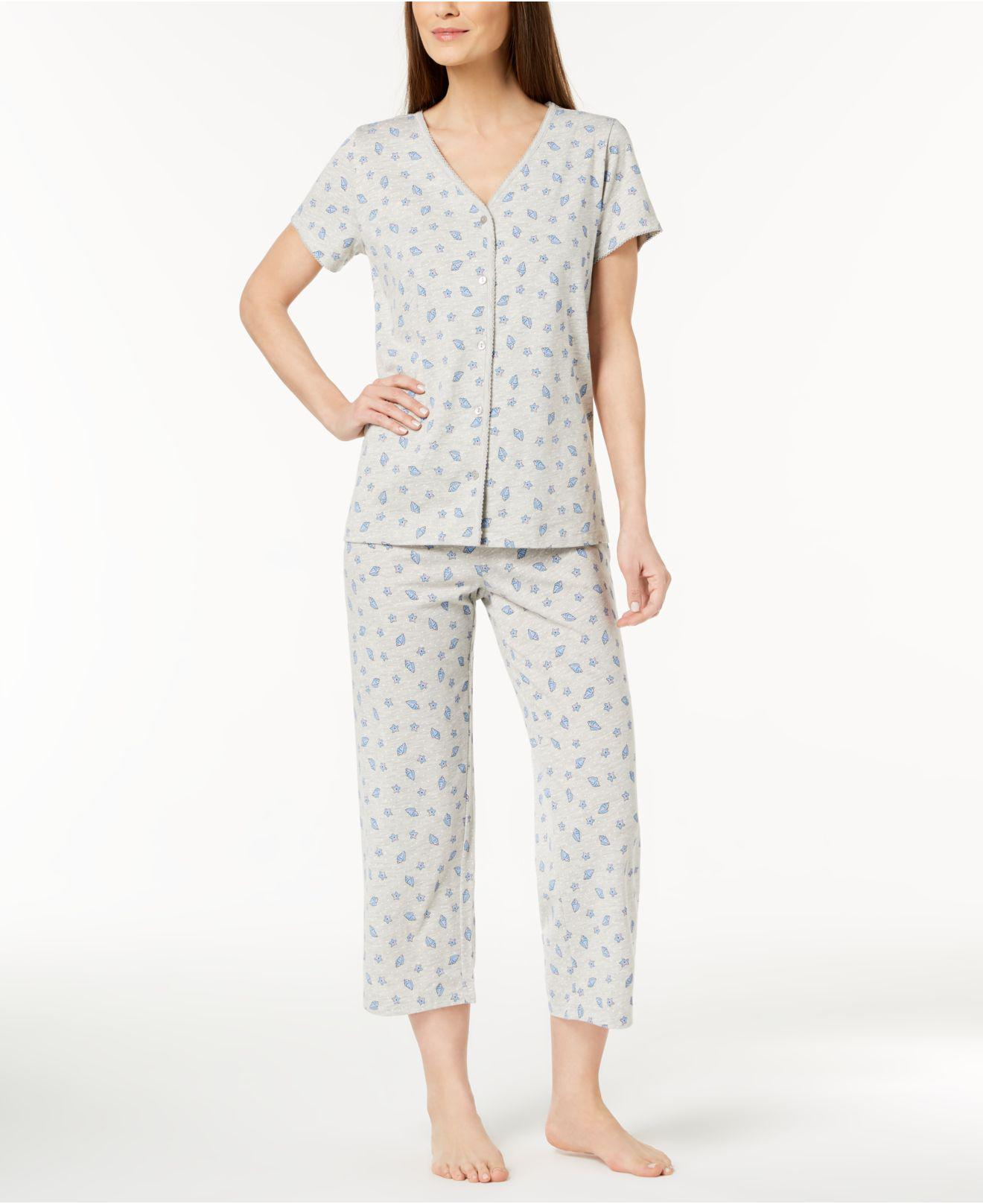 02bfd3d42e Lyst - Charter Club Printed Cotton Pajama Set