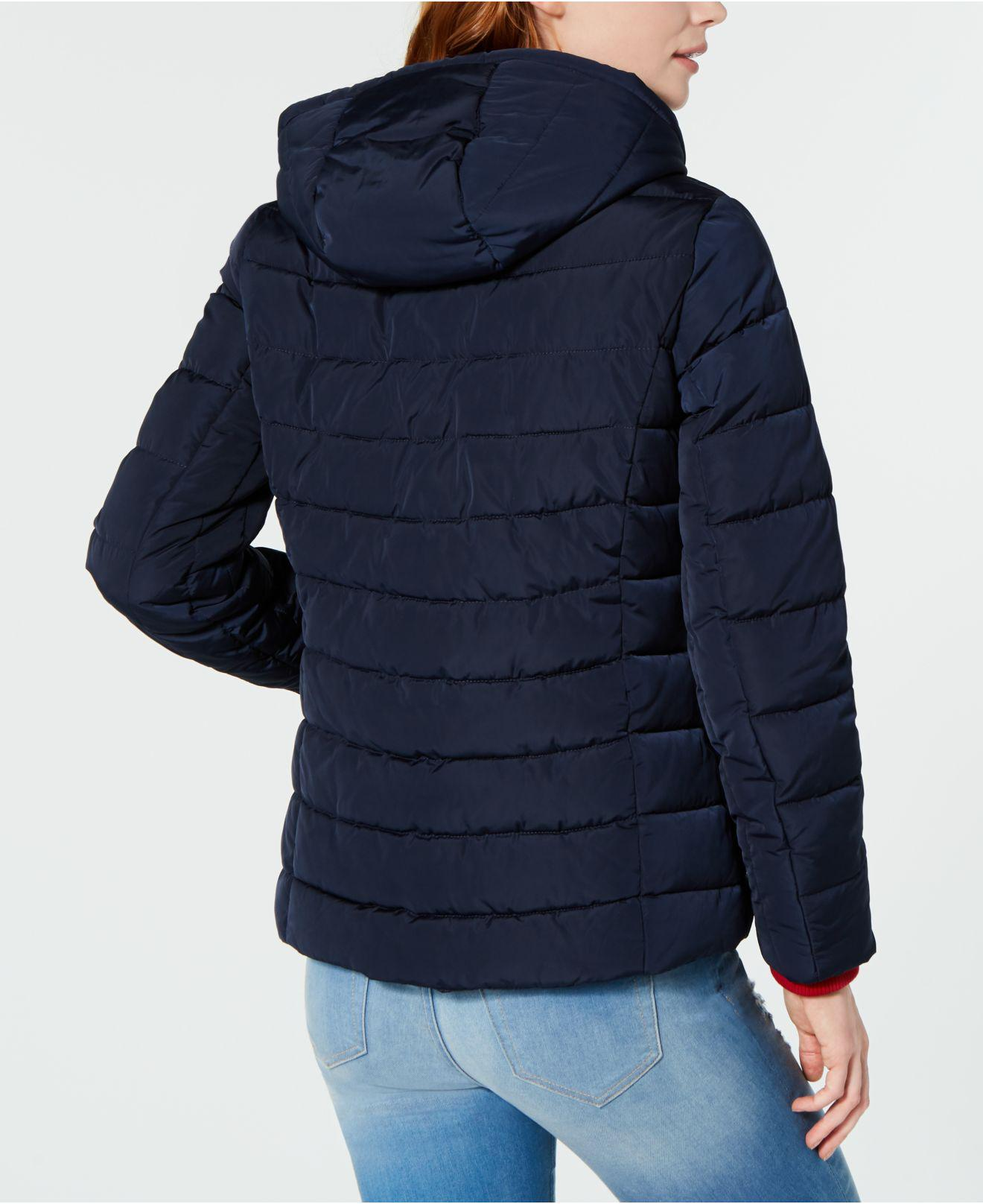 77d62e9a5 Tommy Hilfiger Knit Collar Hooded Puffer Jacket, Created For Macy's ...