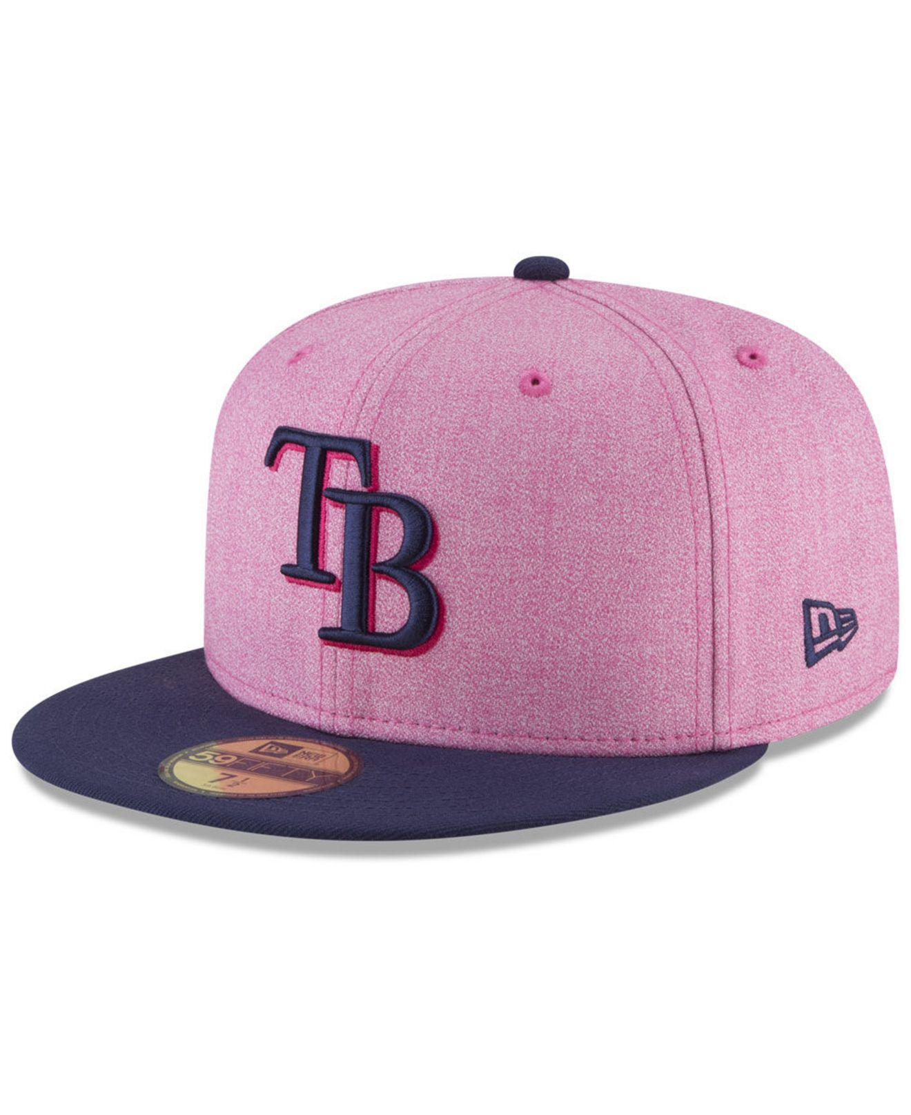 reputable site 82dc6 a8007 Lyst - KTZ Tampa Bay Rays Mothers Day 59fifty Fitted Cap in Pink