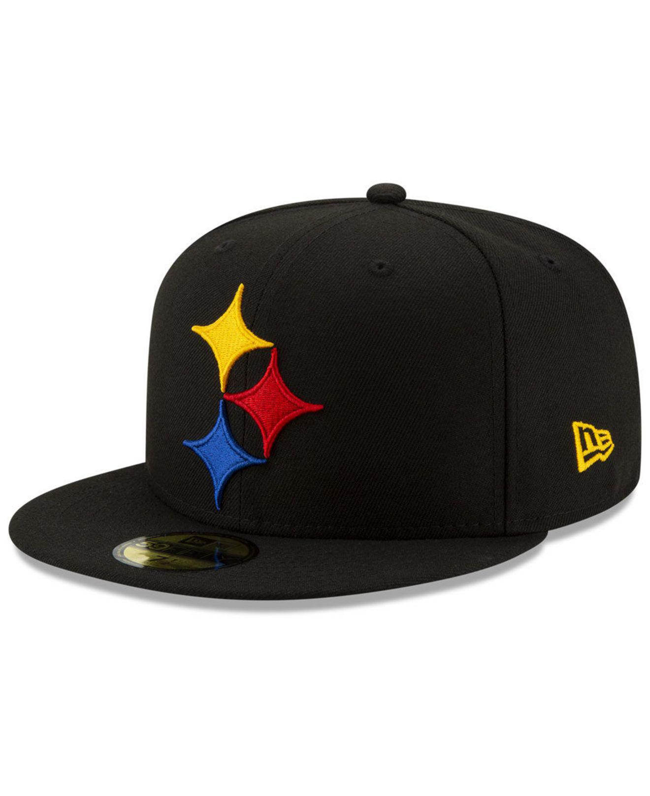 d50f86b44ce KTZ - Black Pittsburgh Steelers Logo Elements Collection 59fifty Fitted Cap  - Lyst. View fullscreen