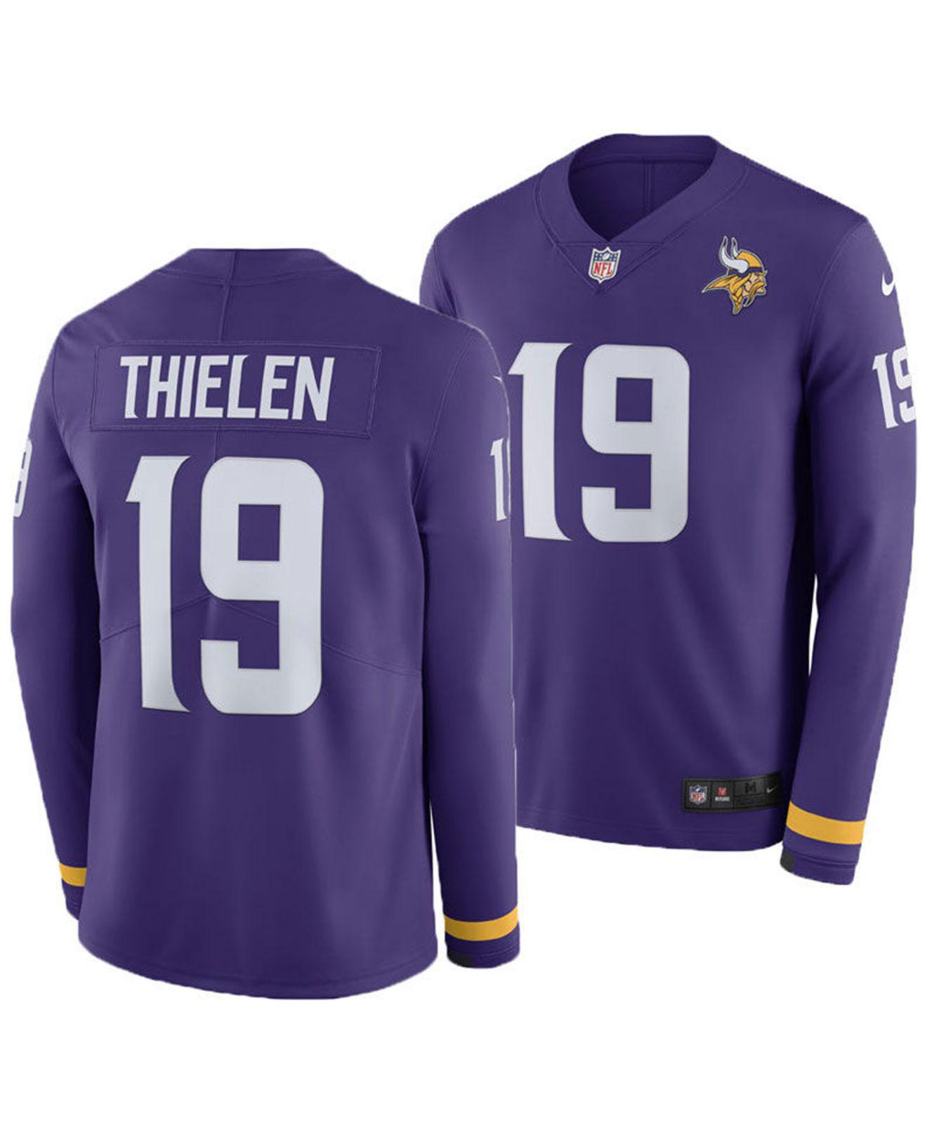 Lyst - Nike Adam Thielen Minnesota Vikings Therma Jersey in Purple ... 52742c450