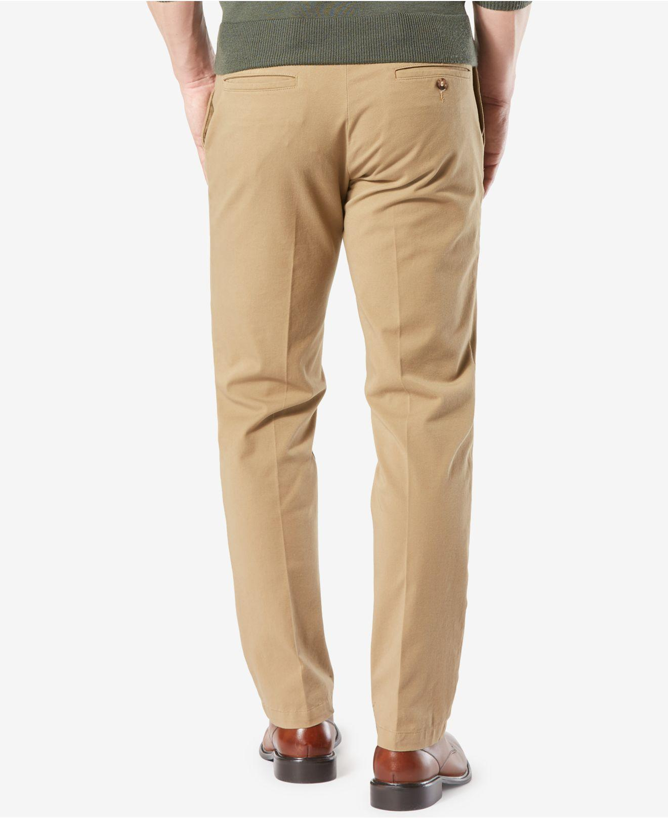 670aca1820 Dockers Workday Smart 360 Flex Straight Fit Khaki Stretch Pants D2 in  Natural for Men - Lyst