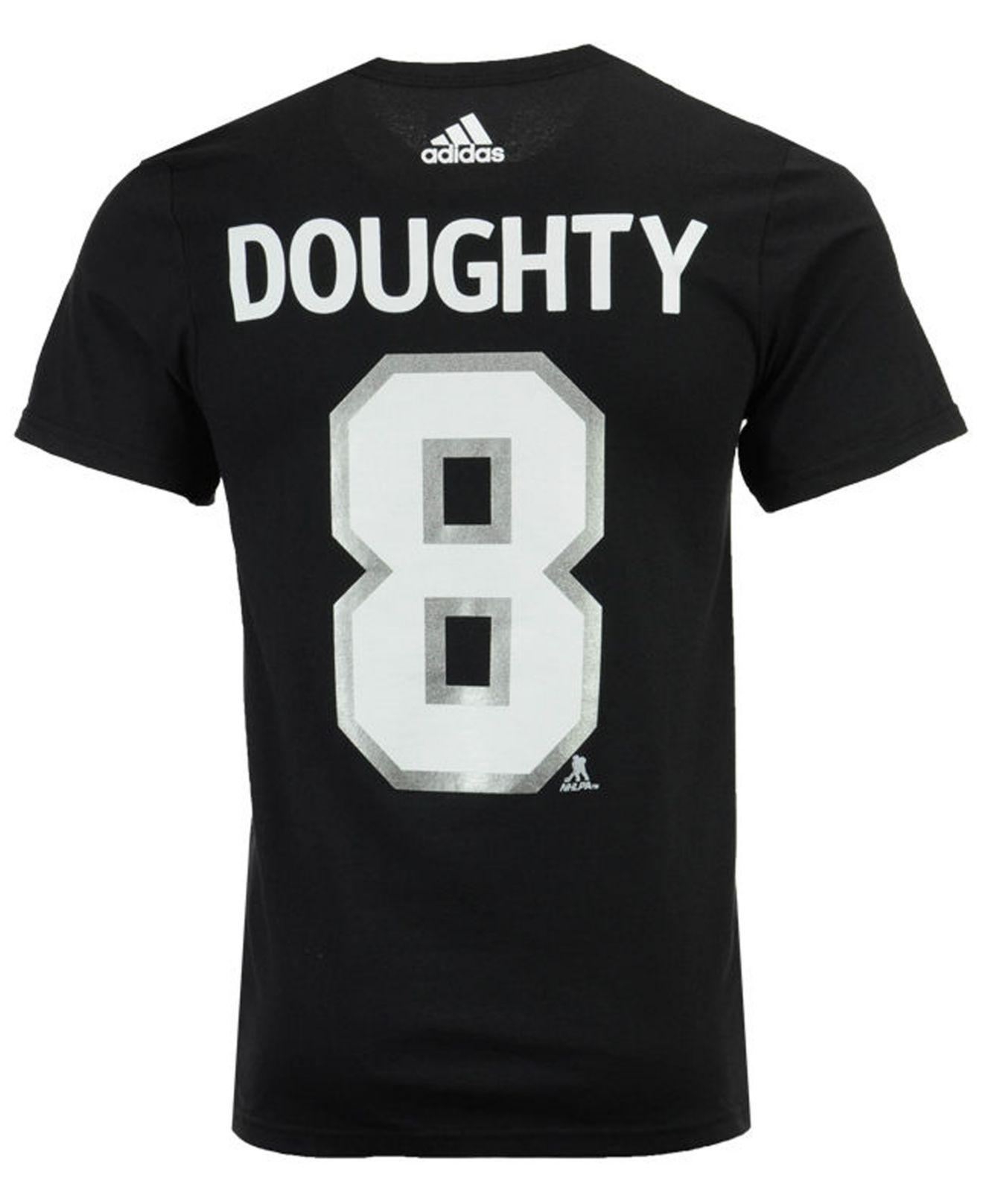 Lyst - adidas Drew Doughty Los Angeles Kings Silver Player T-shirt in Black  for Men c79e4c51f
