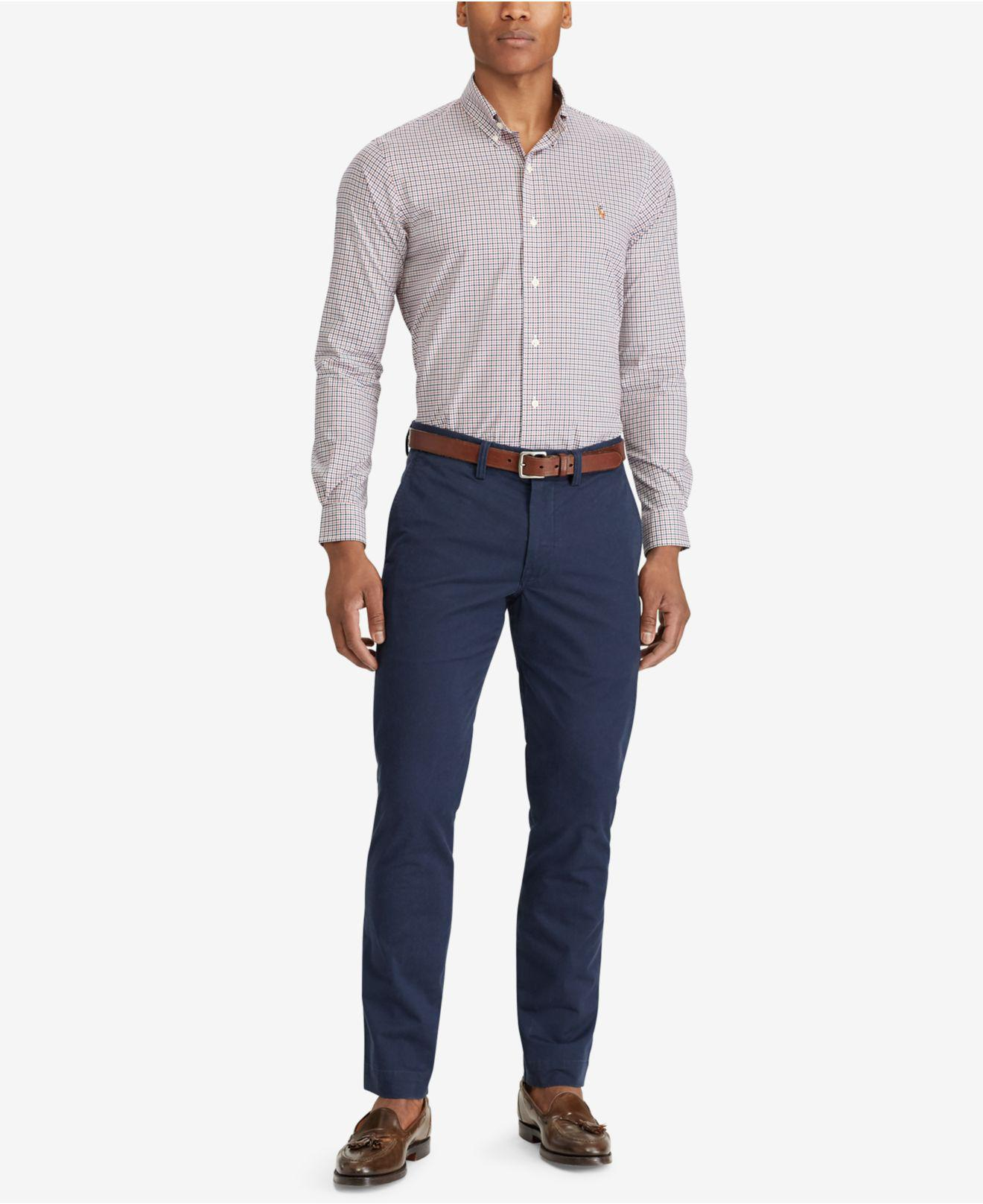 1b41a12d9ae73 Polo Ralph Lauren - Blue Men s Straight-fit Bedford Stretch Chino Pants for  Men -. View fullscreen