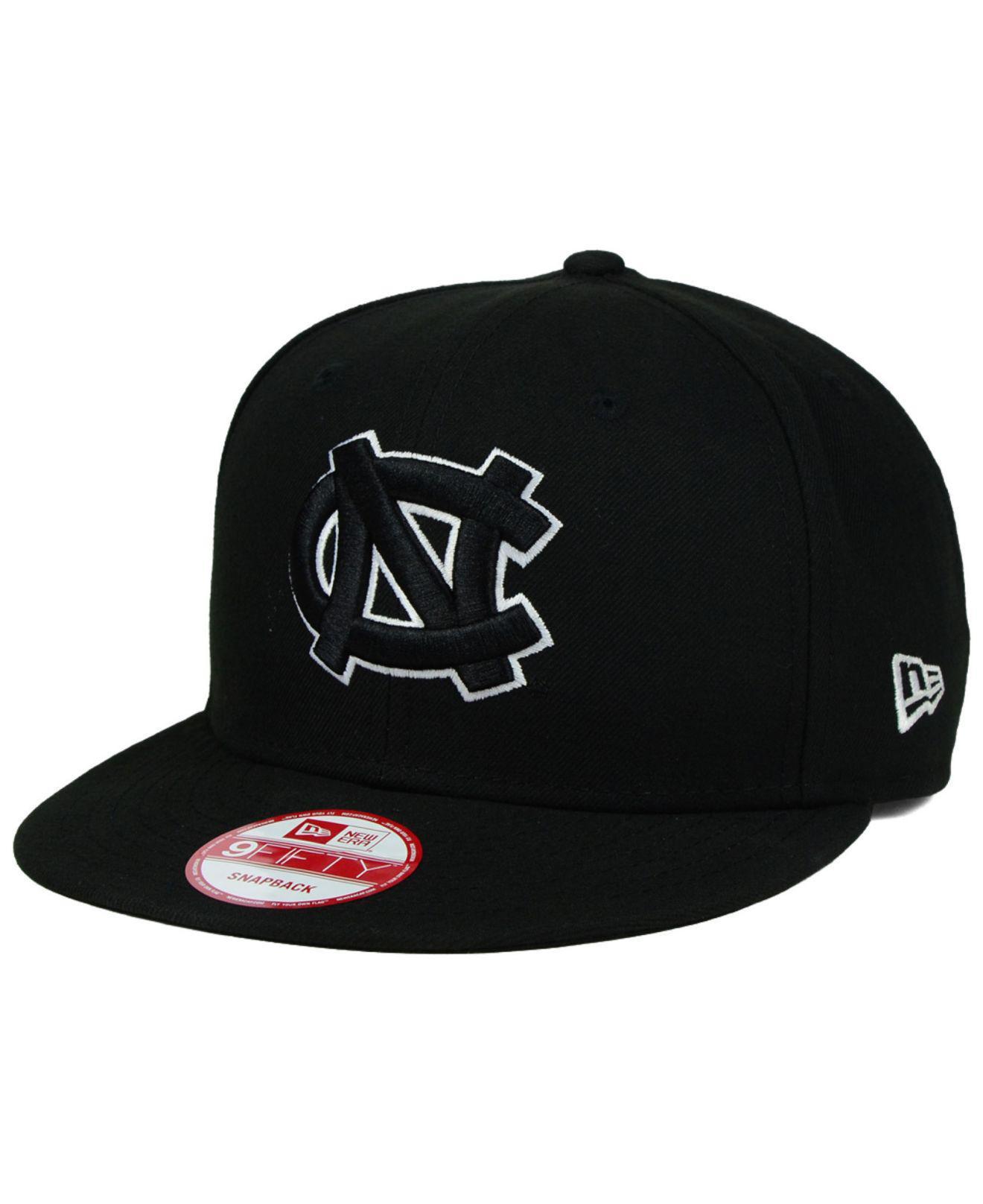 Lyst - KTZ North Carolina Tar Heels Black White 9fifty Snapback Cap ... ebe716e1c