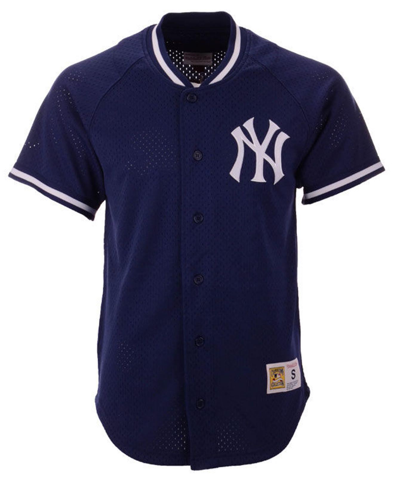 ebfff3bea1a57 Lyst - Mitchell   Ness New York Yankees Pro Mesh Jersey in Blue for Men