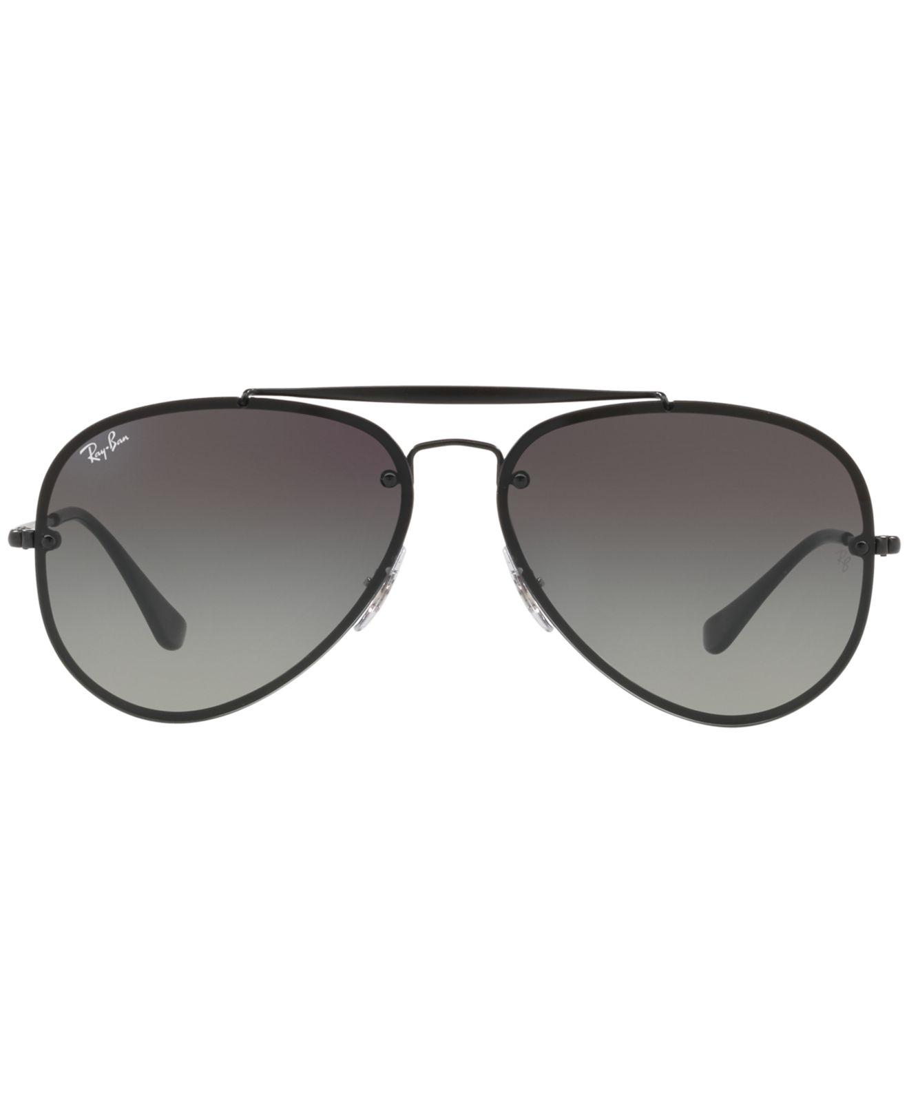 e8088e63bc2 Lyst - Ray-Ban Blaze Aviator Black in Black for Men