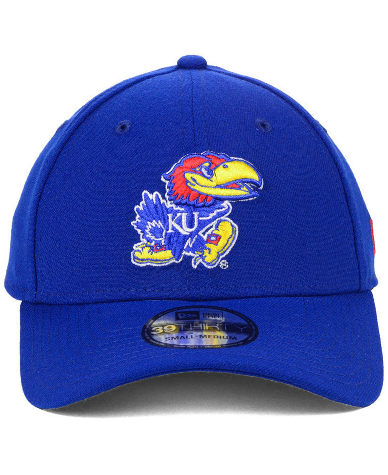 buy online ab577 ab66a Lyst - Ktz Kansas Jayhawks College Classic 39thirty Cap in Blue for Men