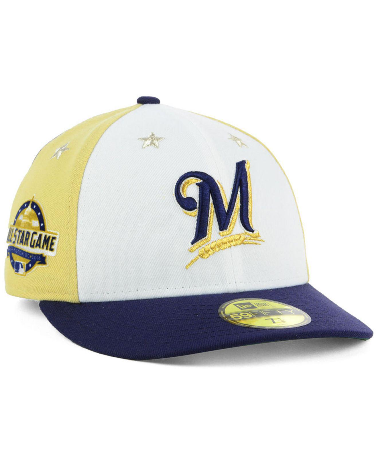 san francisco e7754 f4a31 amazon ktz. mens blue milwaukee brewers all star game patch low profile  59fifty fitted cap