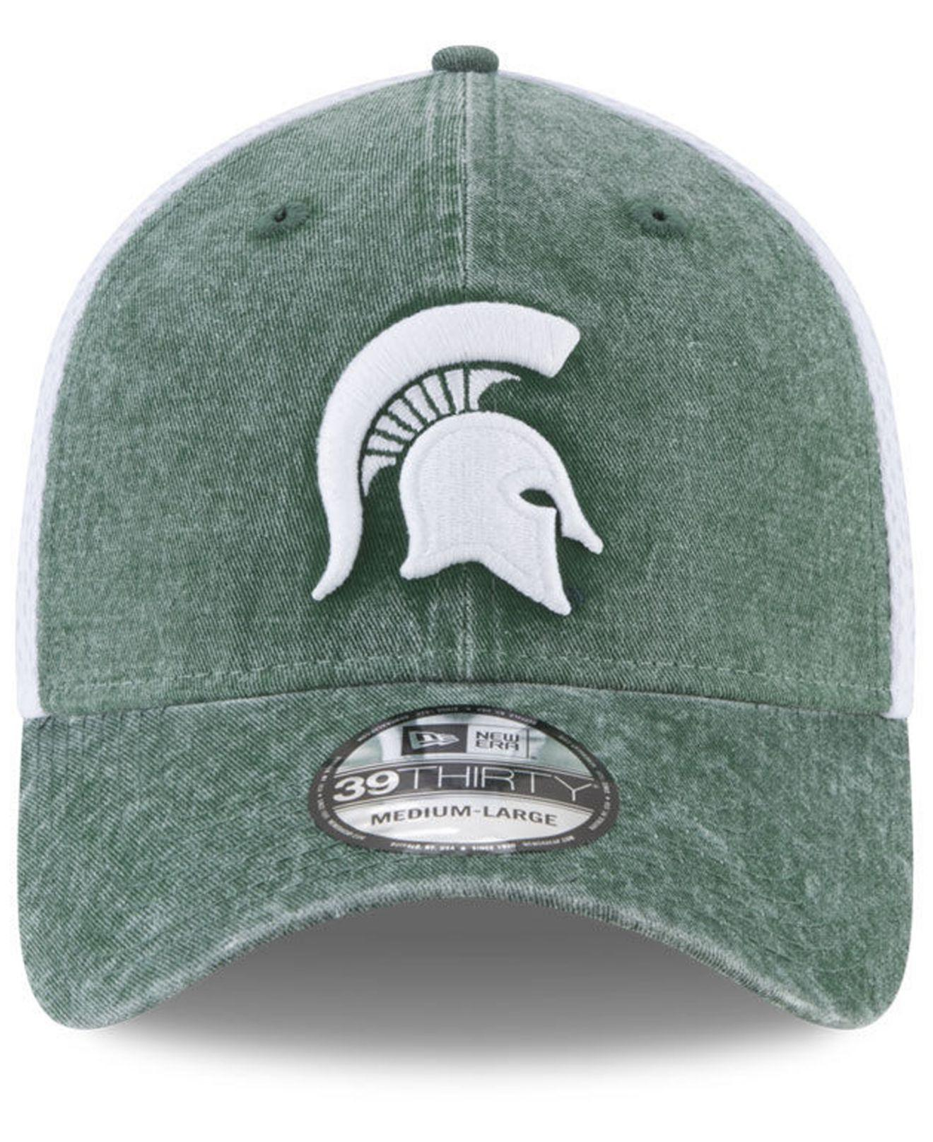 reputable site 9b5b9 a6765 KTZ Michigan State Spartans Washed Neo 39thirty Cap in Green for Men ...