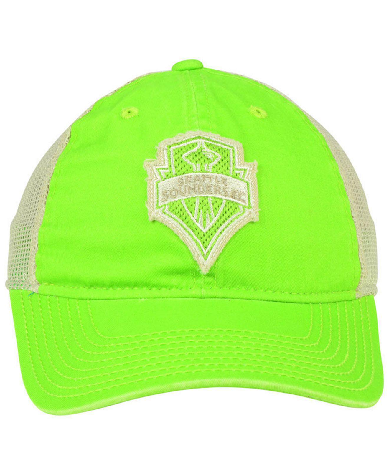 newest adadd 2e585 Lyst - adidas Seattle Sounders Fc Bleached Trucker Cap in Green