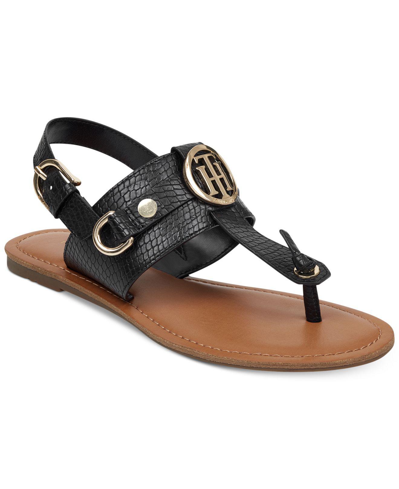 Tommy Hilfiger FLAT - Sandals - black hMZyOz7E