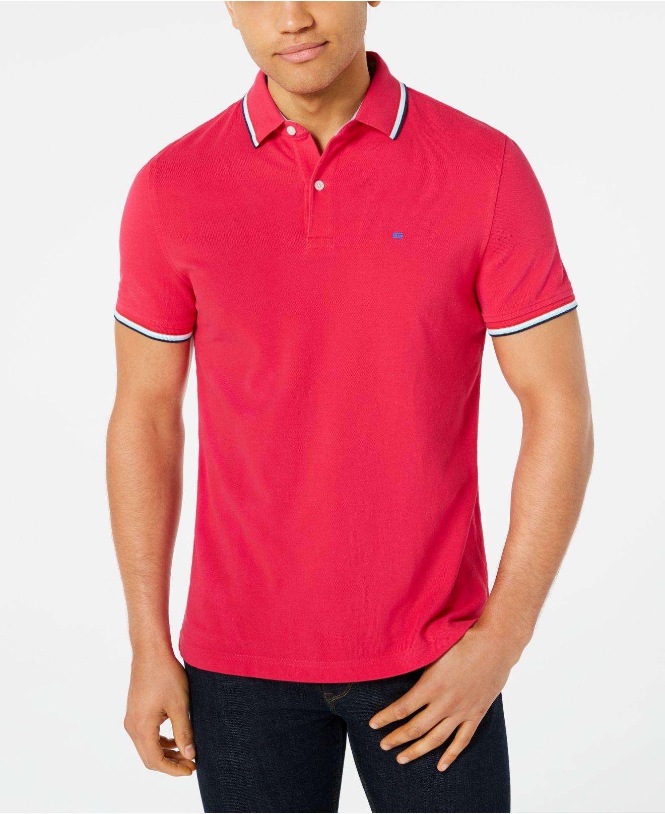 509bcef5 Tommy Hilfiger Tanner Contrast-stripe Polo in Pink for Men - Lyst