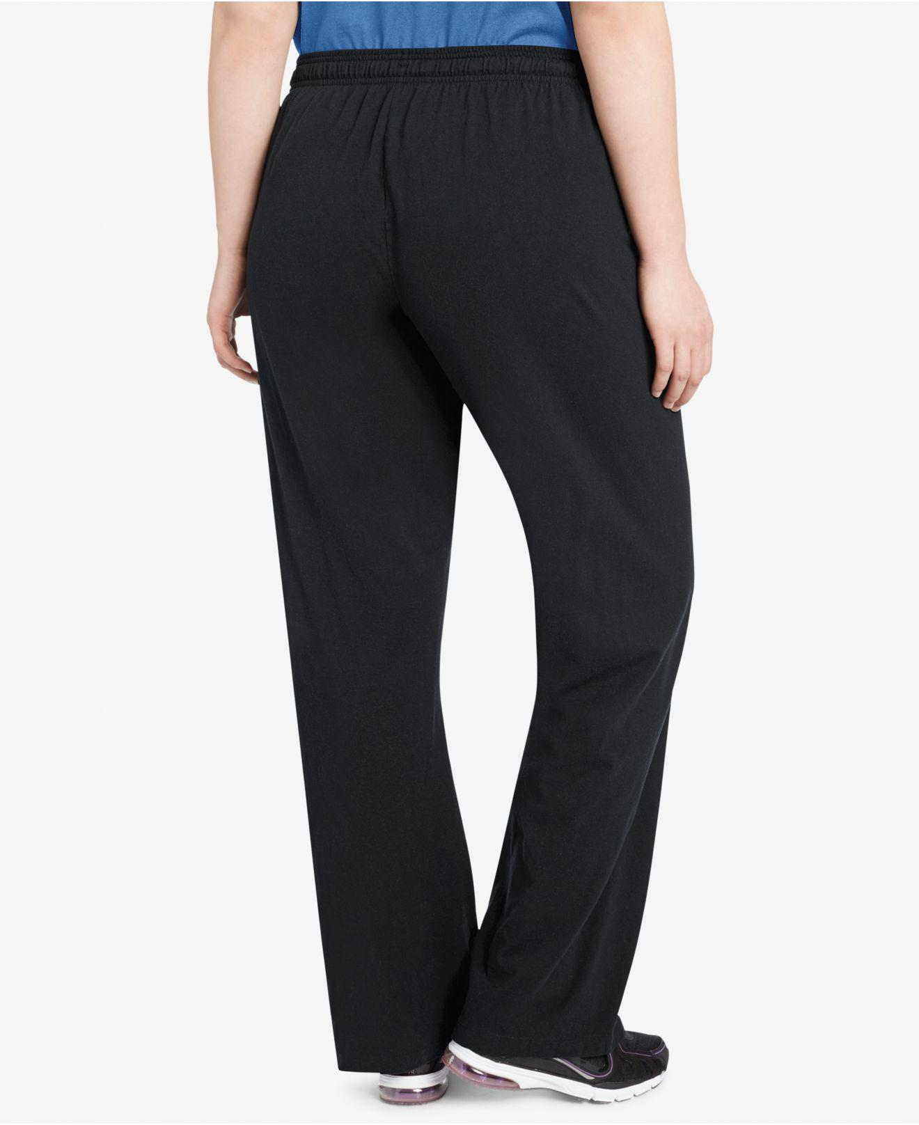 cc601d0e55c9 Lyst - Champion Plus Size Cotton Jersey Pants in Black