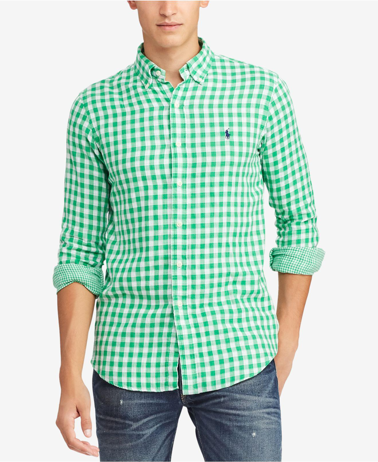 7023298139 Lyst - Polo Ralph Lauren Gingham Classic Fit Button-down Shirt in ...
