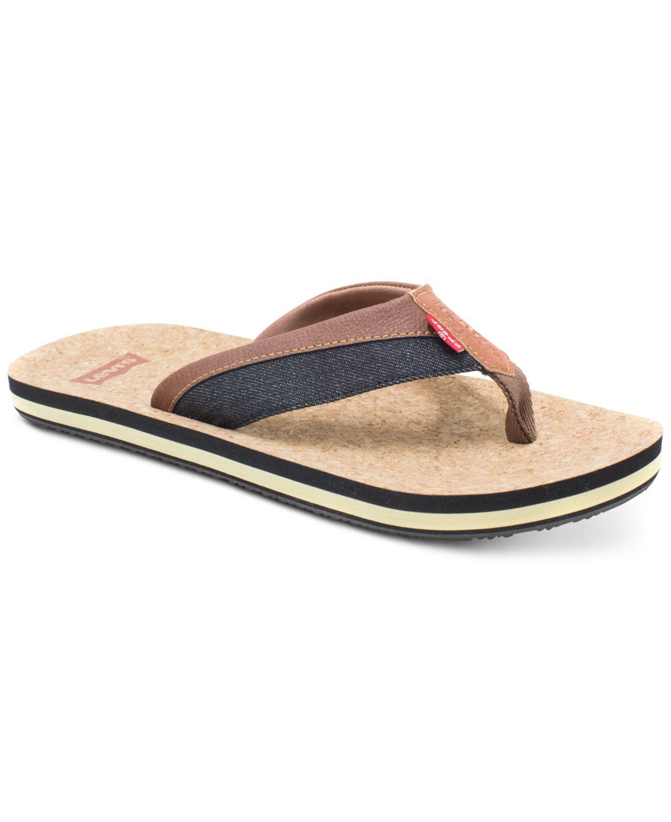 782ea79a743 Lyst - Levi s Vista Cork Flip Flops for Men