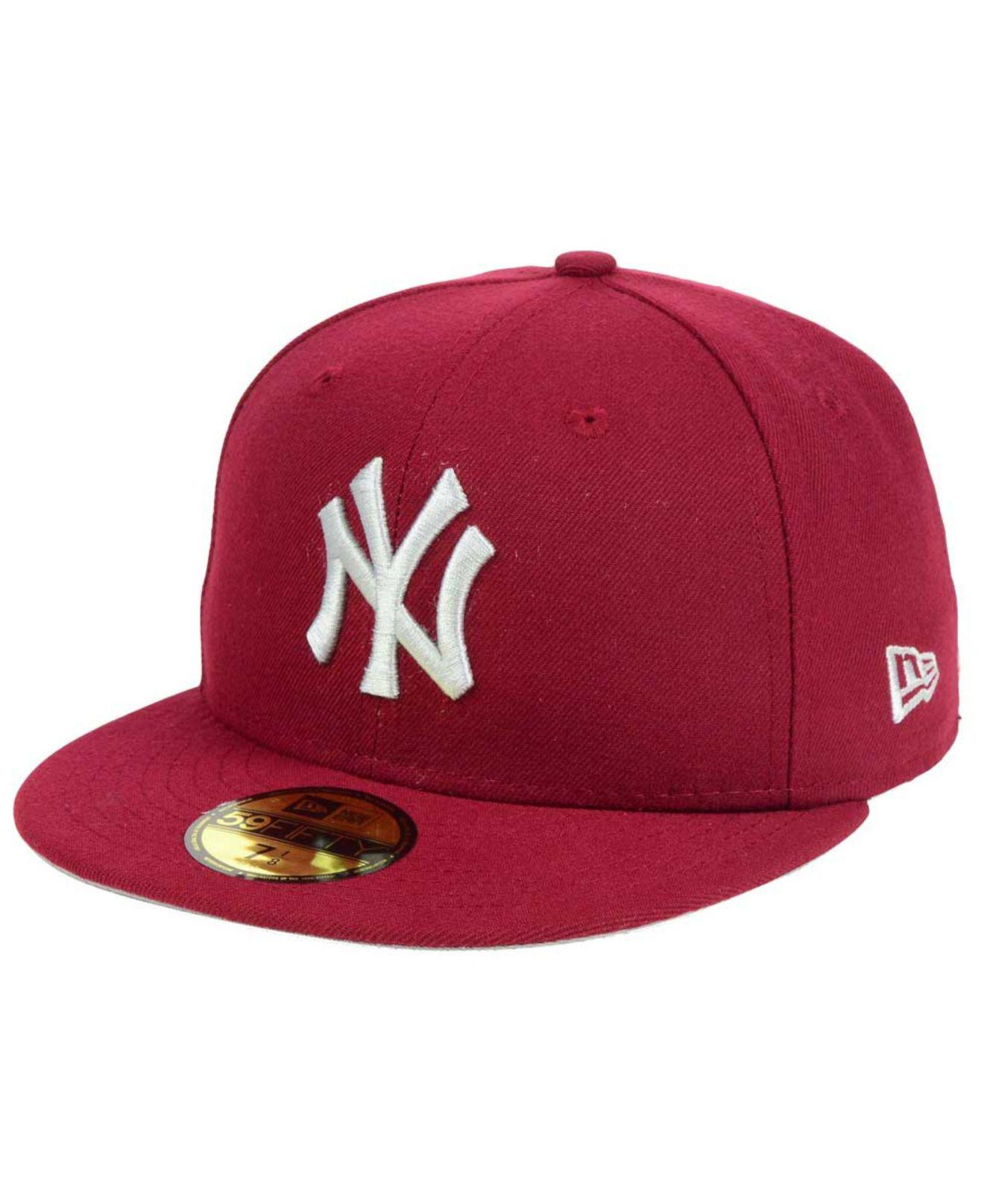 Lyst - Ktz Cardinal Gray 59fifty Cap in Red for Men a6c84d5911ea