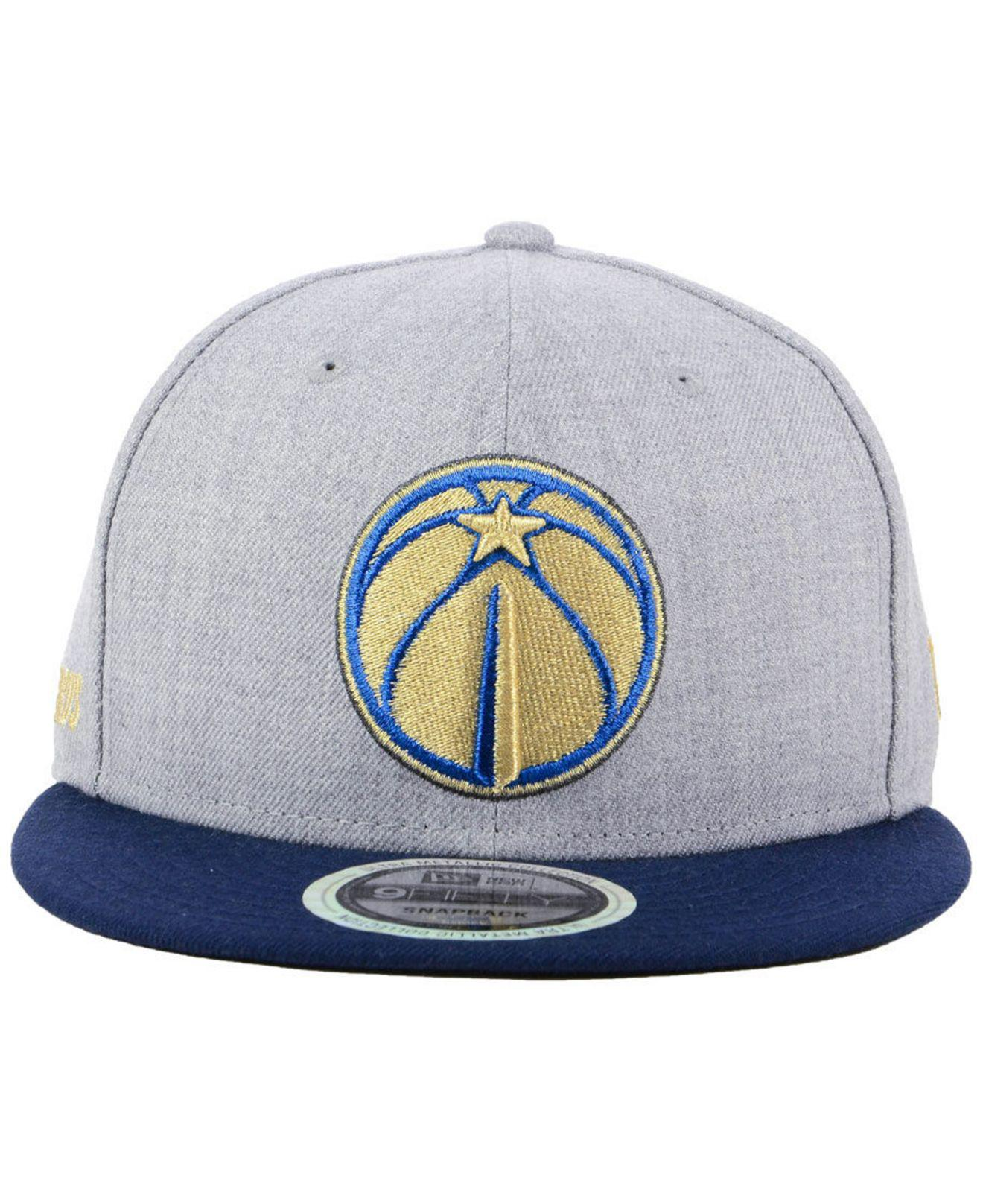ed86ede0 coupon code for lyst ktz washington wizards heather metallic 9fifty snapback  cap for men a5ef1 89f21
