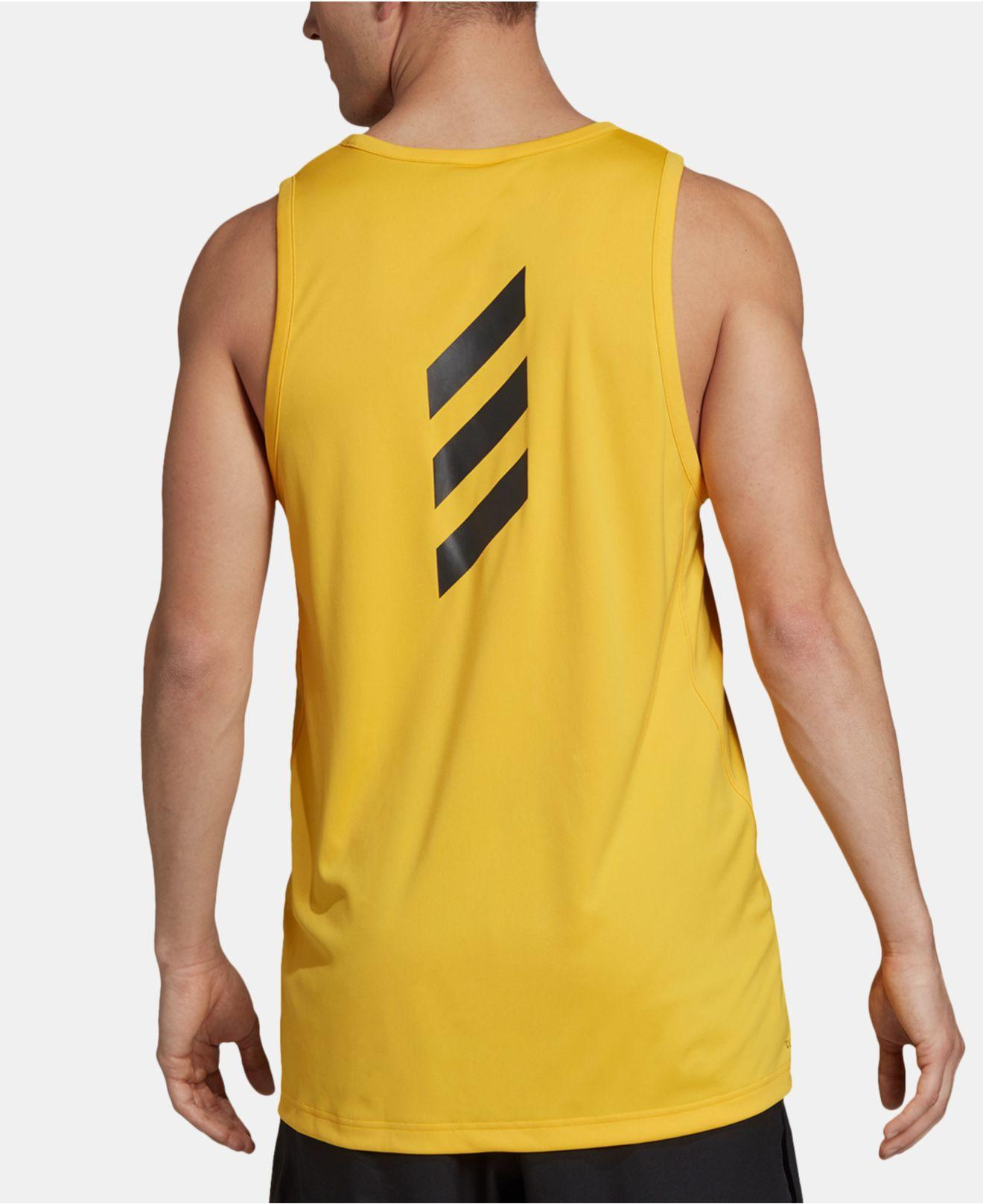 Lyst Top Yellow Adidas Tank For Climalite® Men In FTclK1J