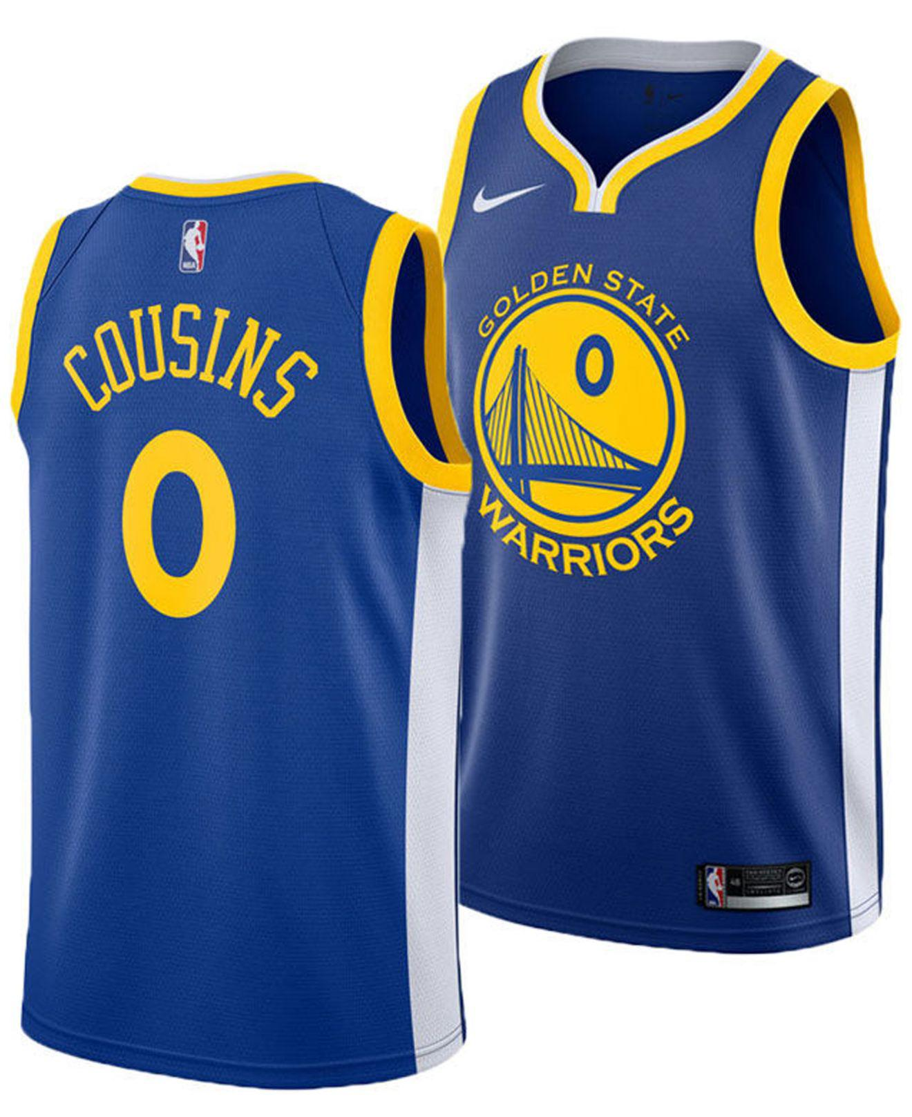 ad08e6da4 Nike. Men s Blue Demarcus Cousins Golden State Warriors Icon Swingman Jersey