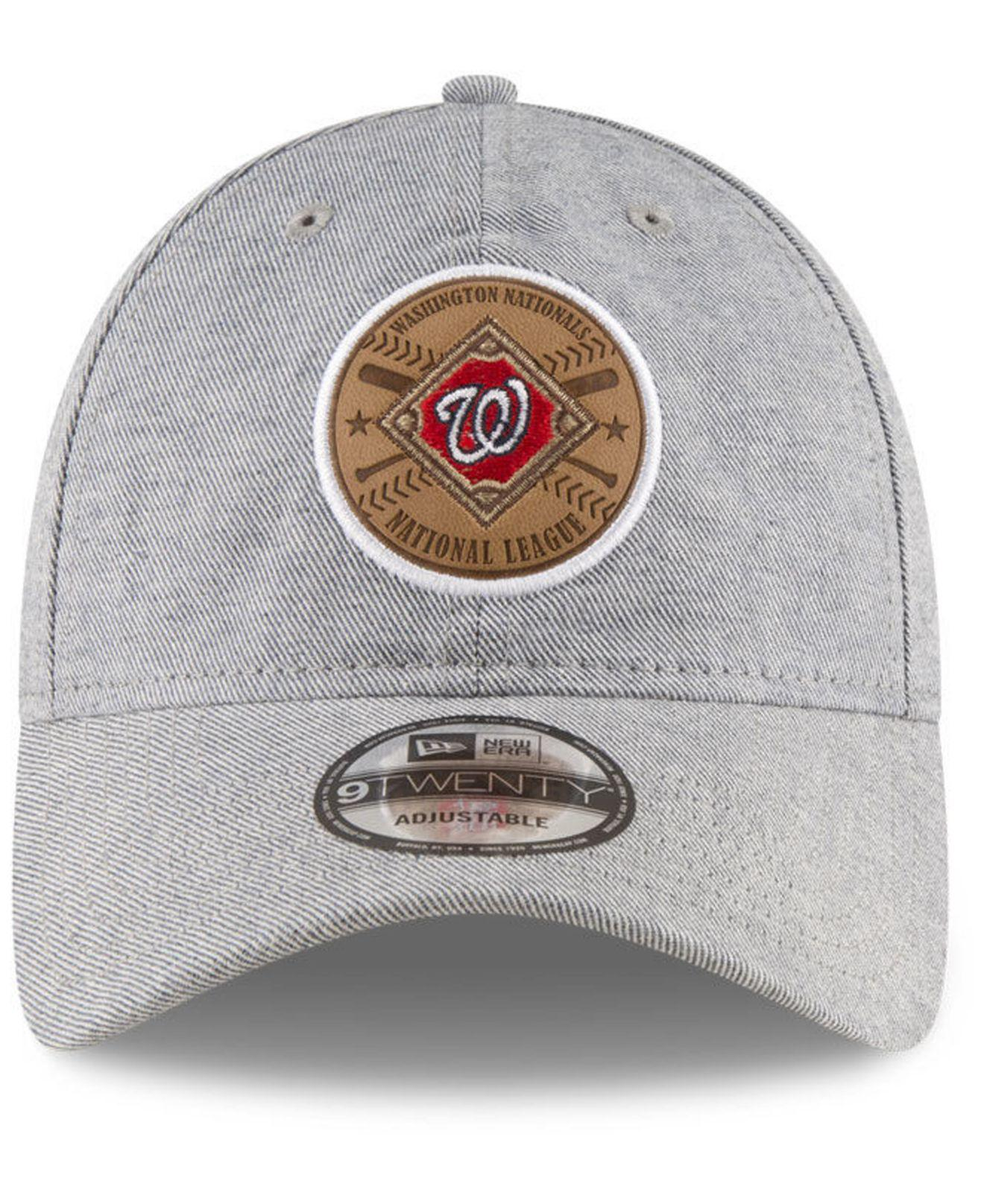 new concept 1fa04 f32c5 ... discount lyst ktz washington nationals round tripper 9twenty strapback  cap in gray for men 0bdec a3b1e