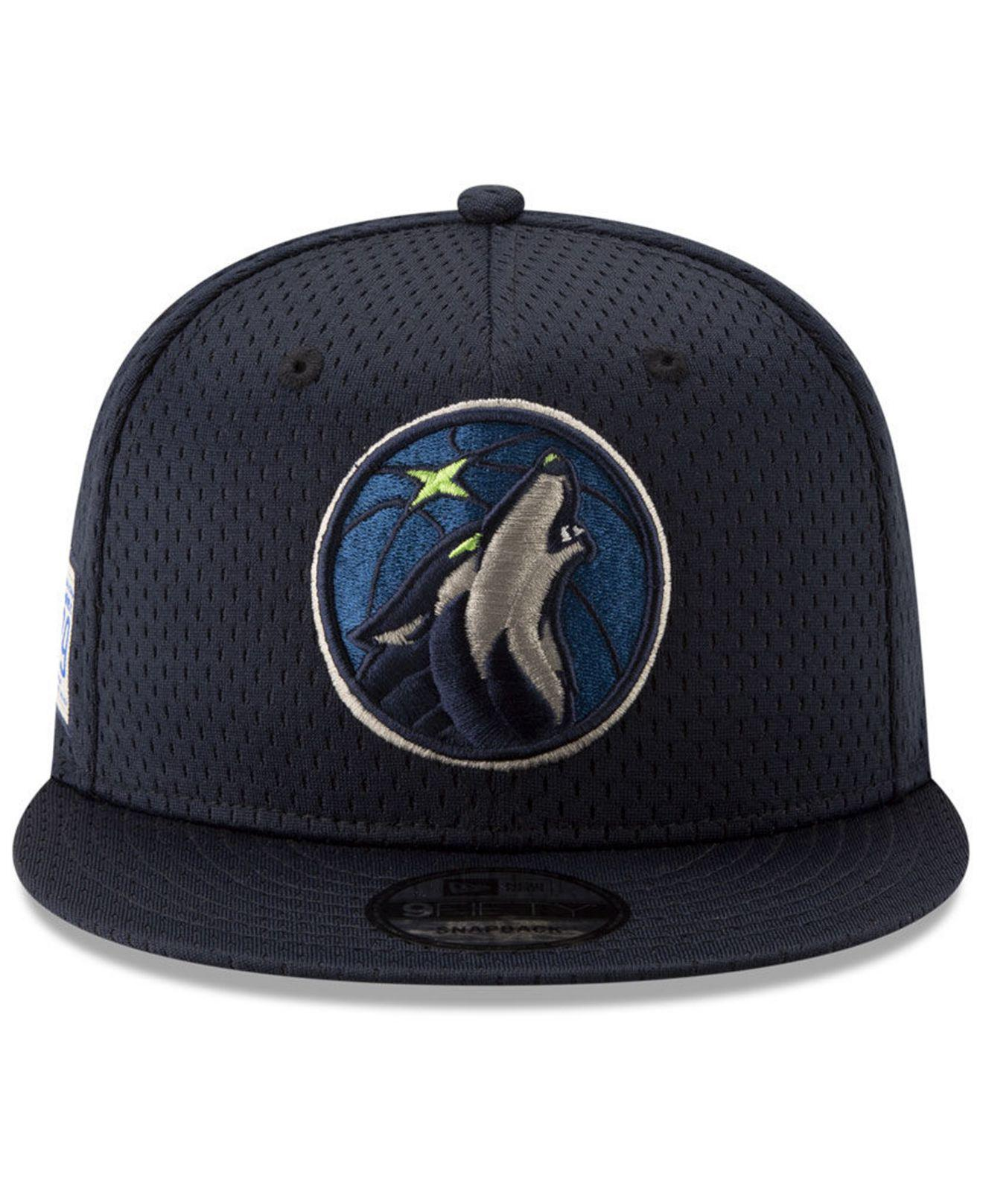 sports shoes 7a03f 27607 ... promo code for lyst ktz minnesota timberwolves jock tag 9fifty snapback  cap in blue for men
