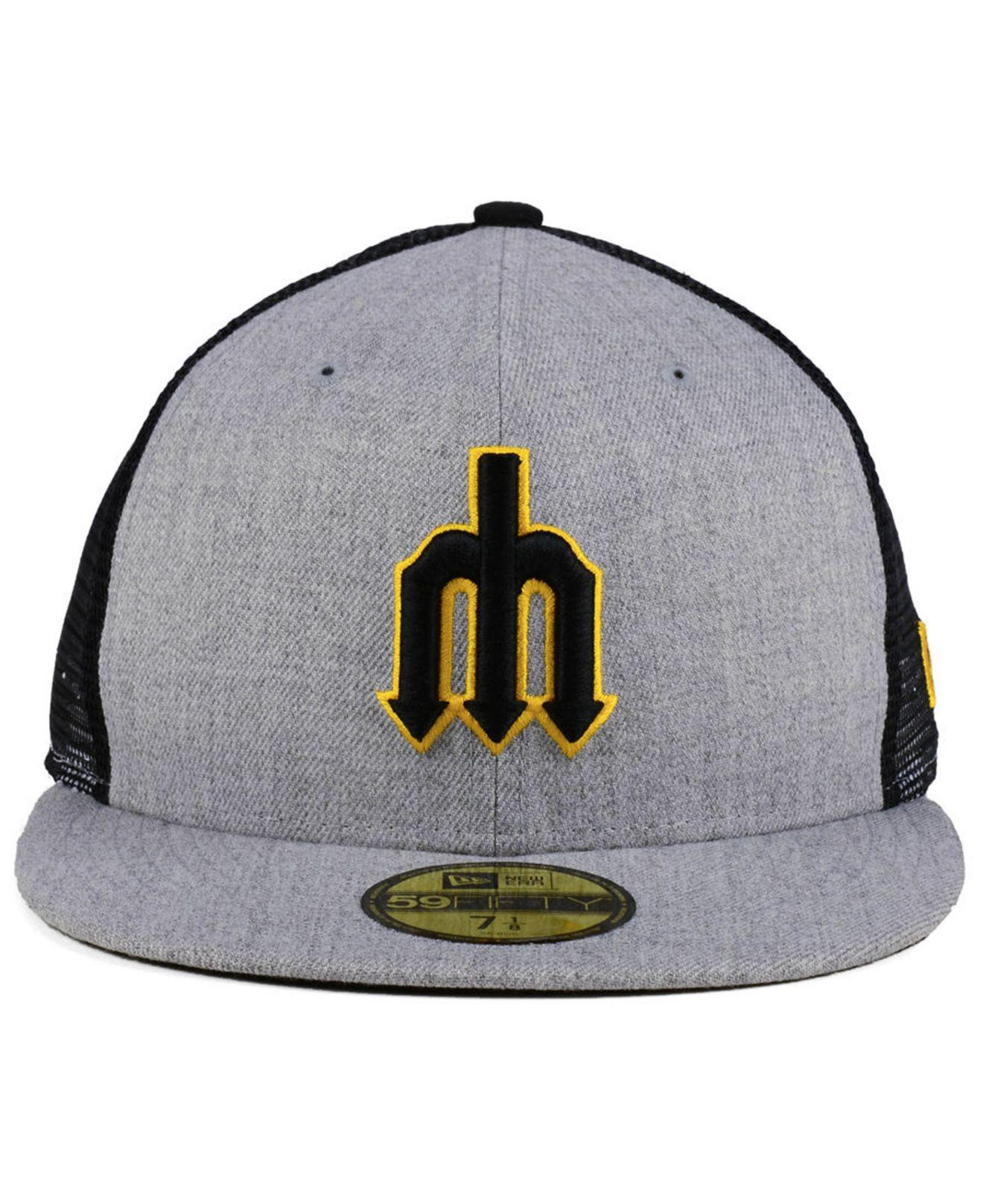 low priced b3603 ef798 KTZ Seattle Mariners New School Mesh 59fifty Fitted Cap for Men - Lyst