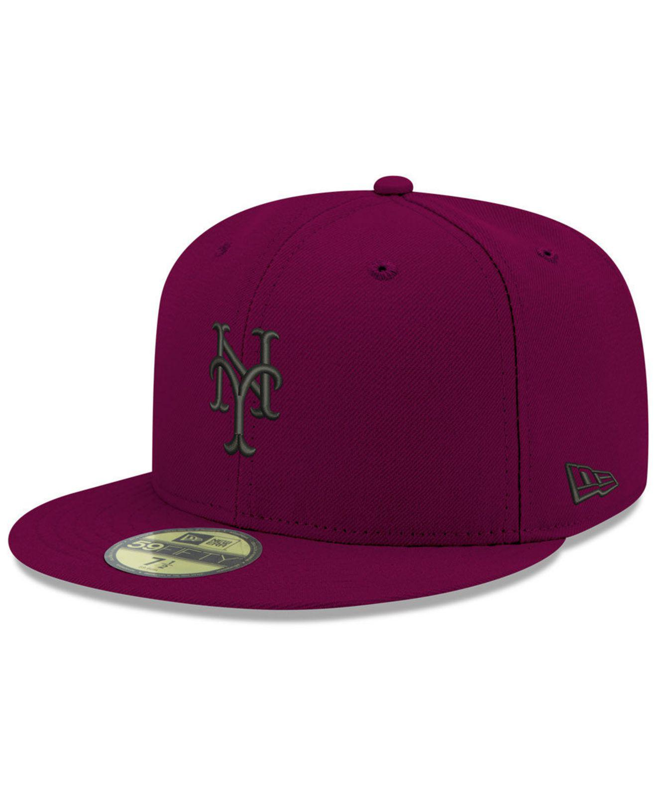 Lyst - KTZ New York Mets Reverse C-dub 59fifty Fitted Cap in Purple ... 8afcc50a9198