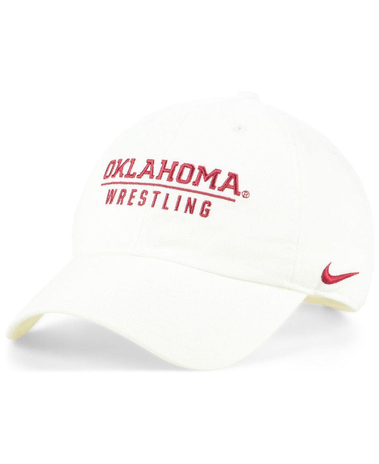 0dc44e4acbf Lyst - Nike Oklahoma Sooners Campus Sport Strapback Cap in White for Men