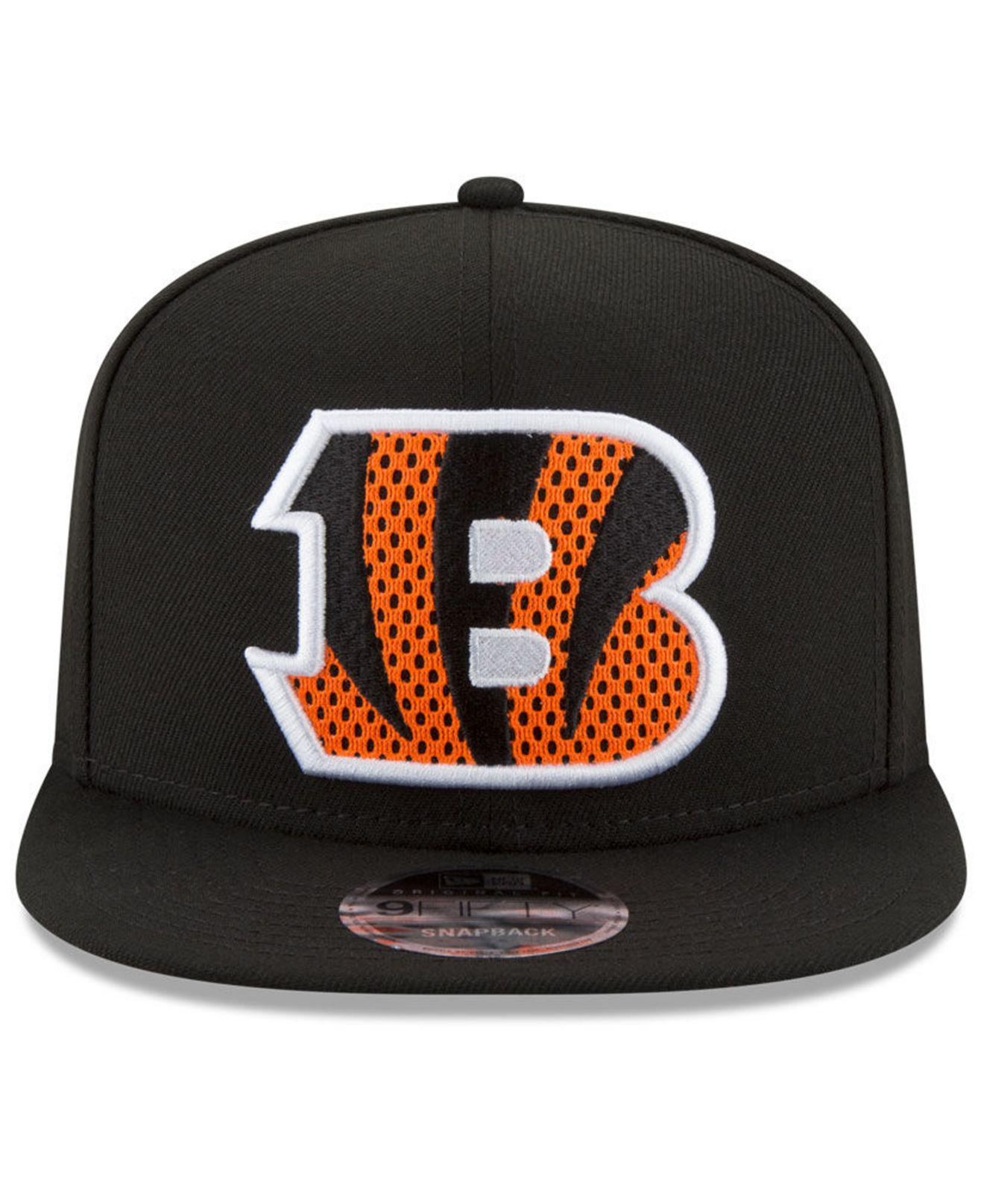 937b21e1d90 Lyst - Ktz Cincinnati Bengals Meshed Mix 9fifty Snapback Cap in Black for  Men