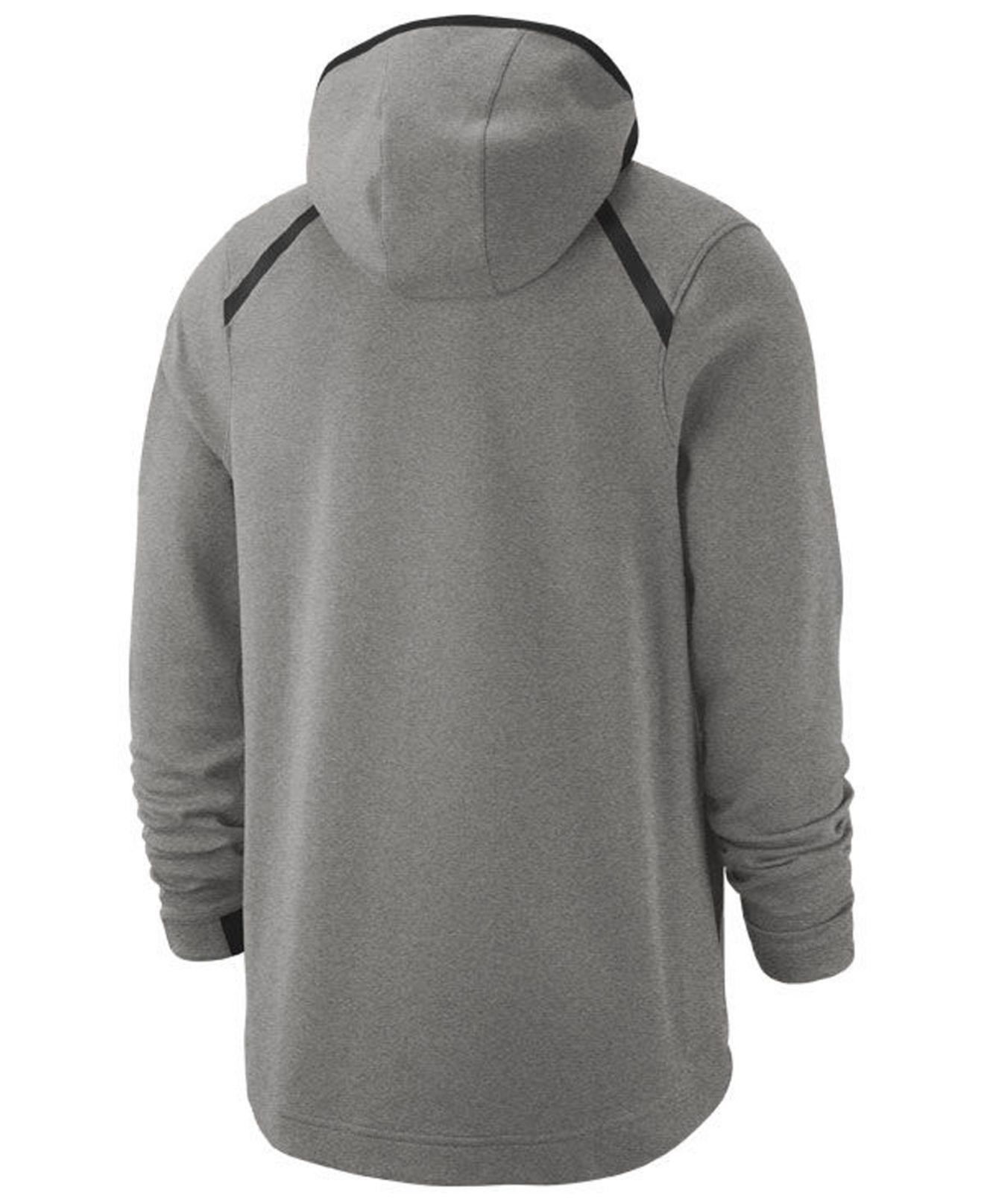 bf1931b87de8 Lyst - Nike New York Knicks Dry Showtime Full-zip Hoodie in Gray for Men