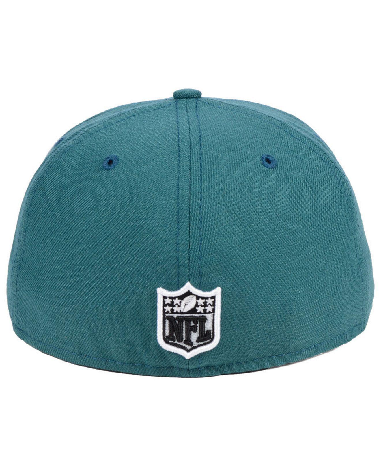 86df0a53473 Lyst - Ktz Philadelphia Eagles Team Basic 59fifty Fitted Cap in Green for  Men