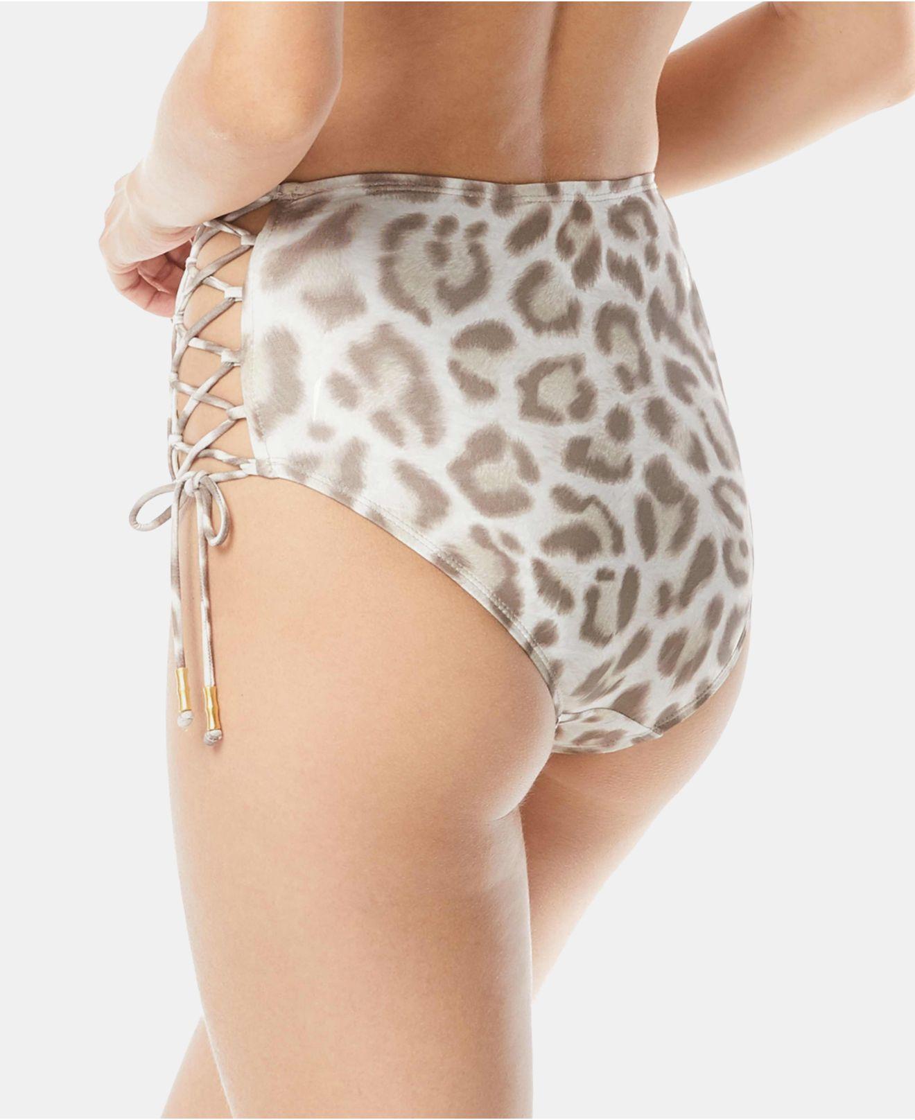 01d82463fd4a6 Carmen Marc Valvo Printed Side-tie High-waist Bikini Bottom - Save 26% -  Lyst