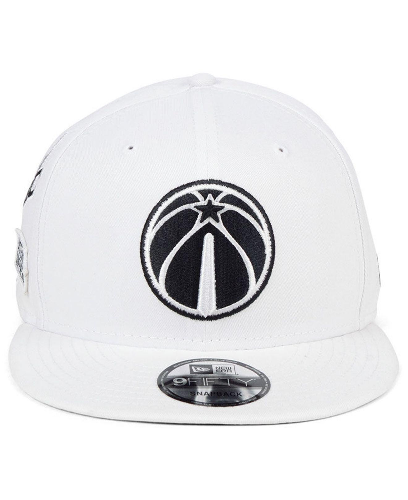 huge discount efe62 06e65 Lyst - KTZ Washington Wizards Night Sky 9fifty Snapback Cap in White for Men