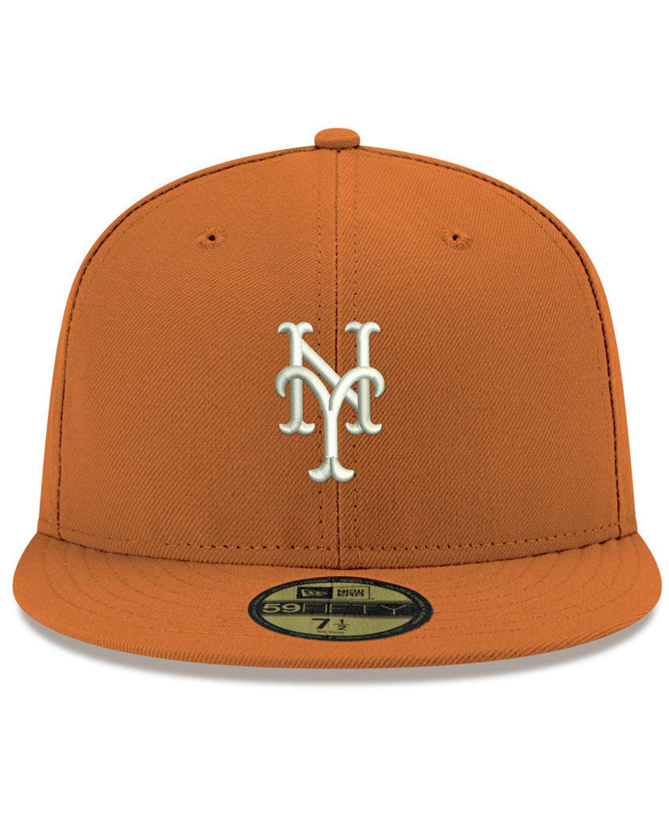 separation shoes 5aee0 49d3e ... new arrivals lyst ktz new york mets re dub 59fifty fitted cap in orange  for men