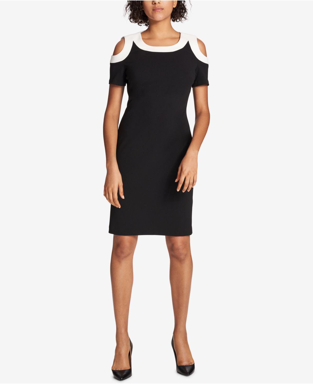 Ivory Black Sheath Dress