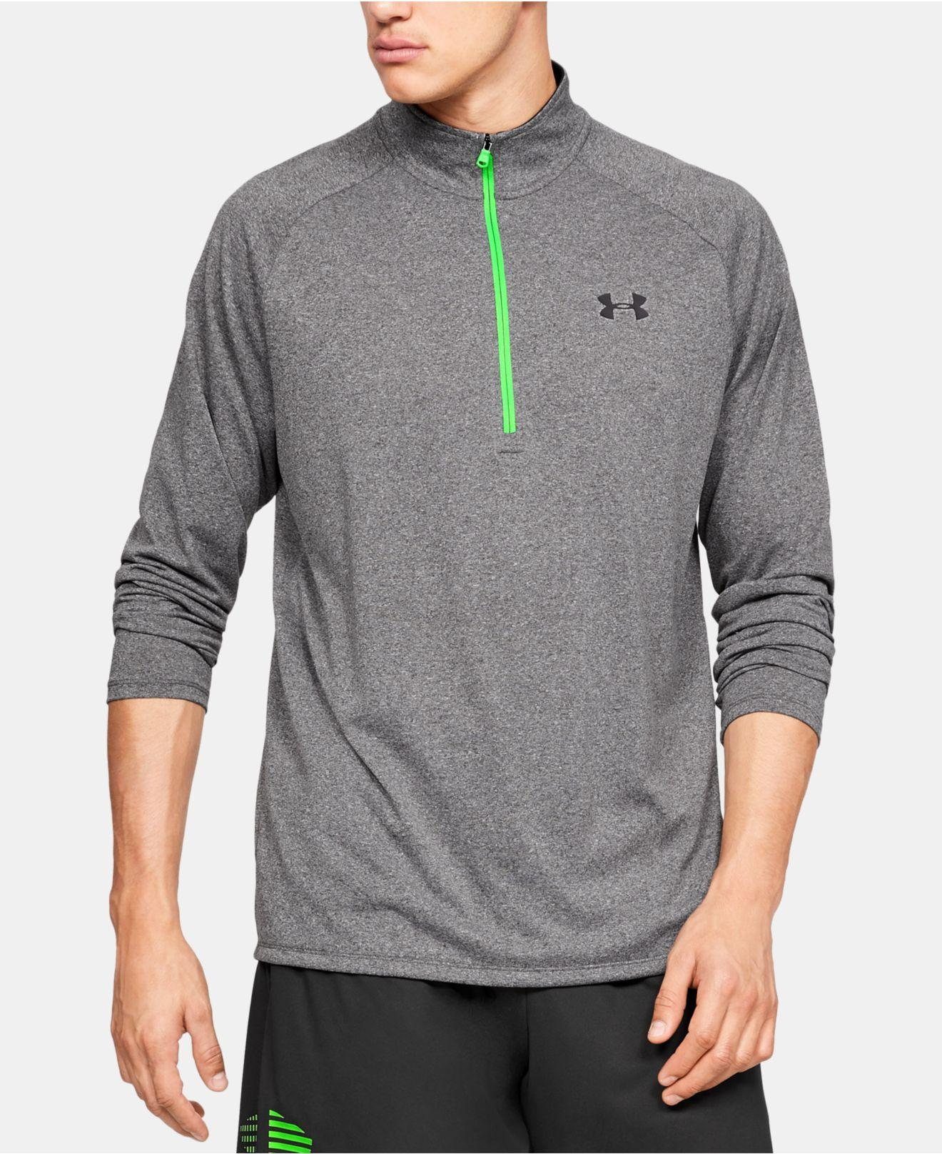 9ca11a66f1 Lyst - Under Armour Ua Tech Half-zip Pullover in Gray for Men