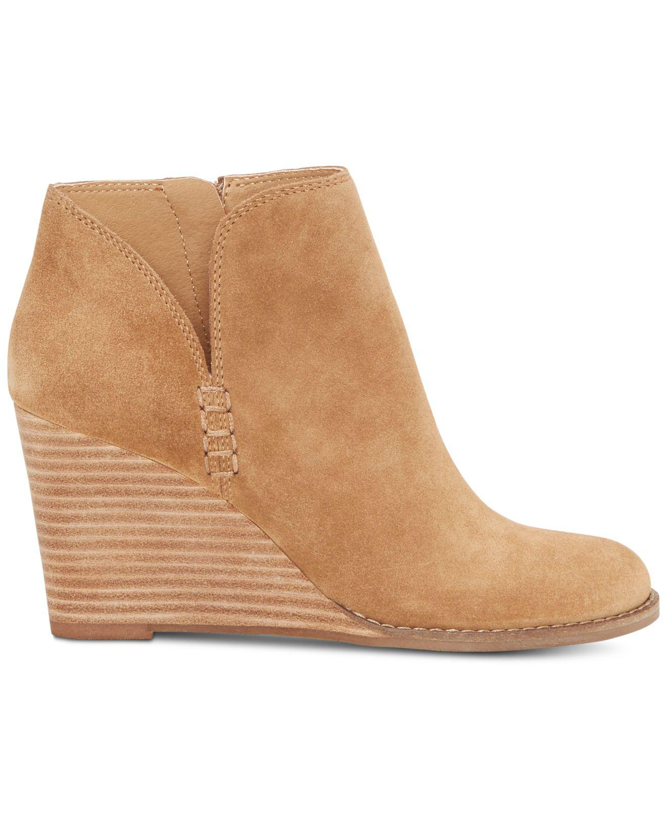 df92fc916aab Lyst - Lucky Brand Yimme Wedge Bootie in Brown - Save 24%