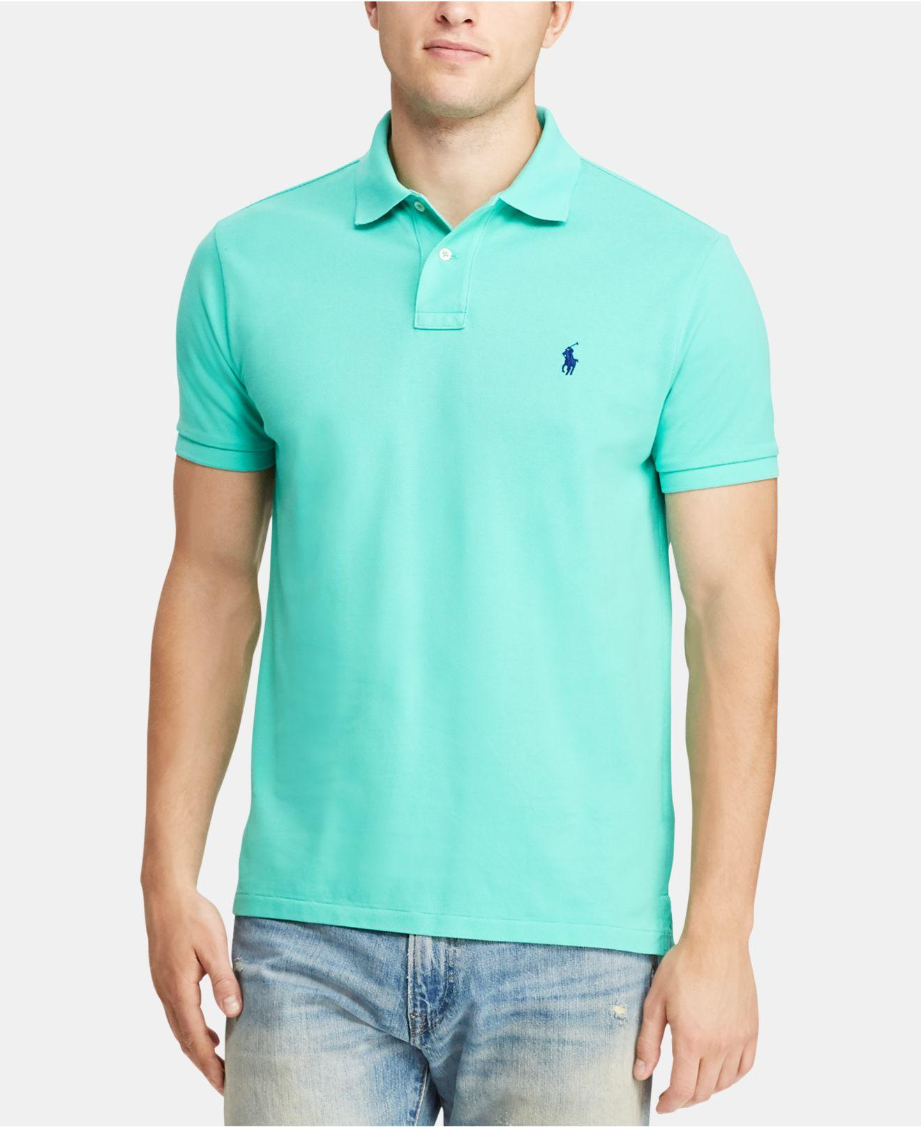 afce9132 Lyst - Polo Ralph Lauren Classic-fit Mesh Polo in Green for Men