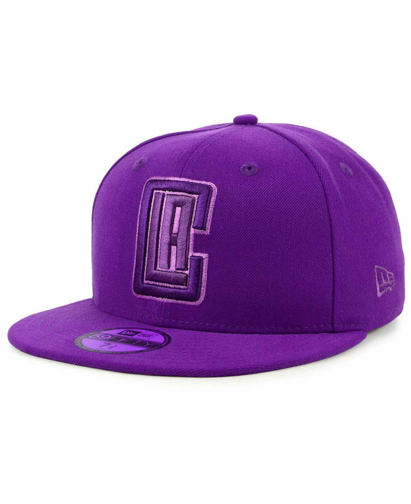 sports shoes afed3 3a2bc KTZ. Men s Purple Los Angeles Clippers Color Prism Pack 59fifty Fitted Cap