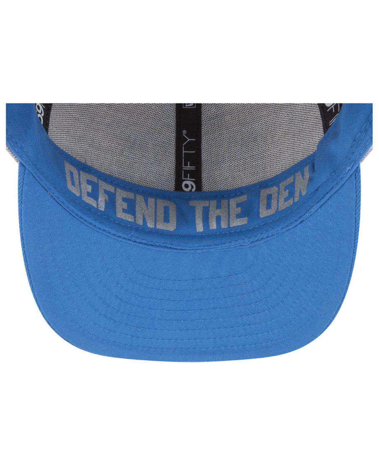 8f5a3584 Lyst - KTZ Detroit Lions Draft Low Profile 59fifty Fitted Cap in ...
