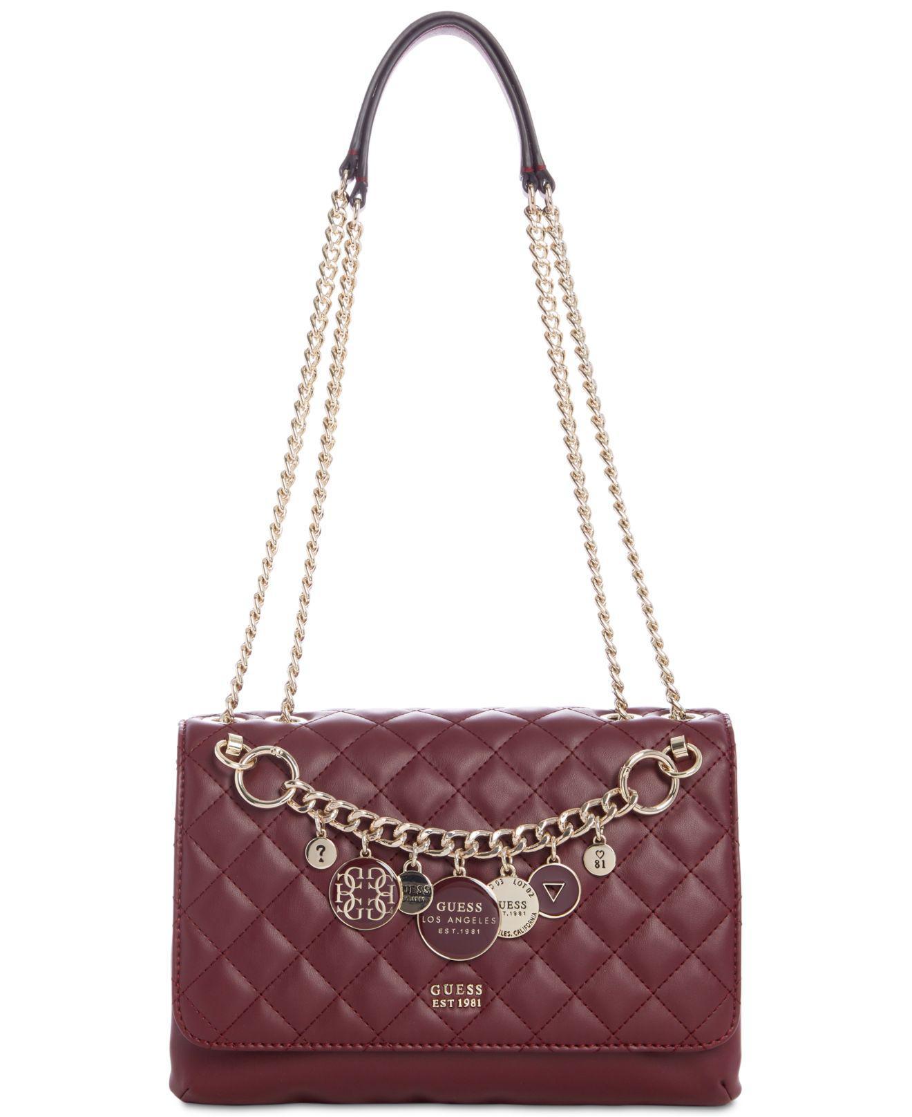 Lyst - Guess Victoria Chain Shoulder Bag 2cd4f238011ed